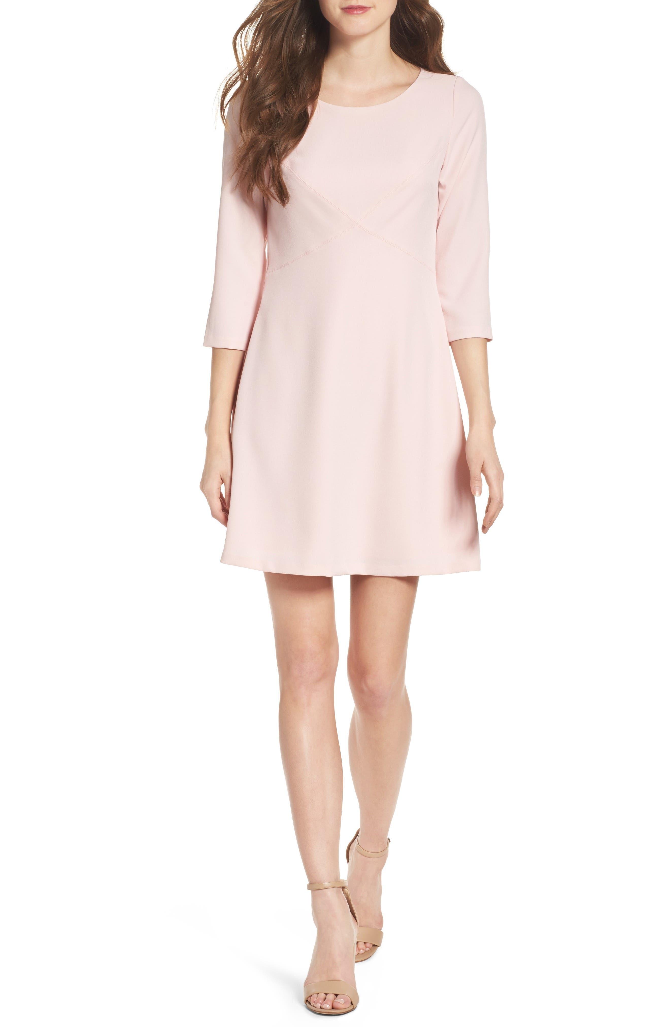 Eliza J Seamed Crepe Dress (Petite)