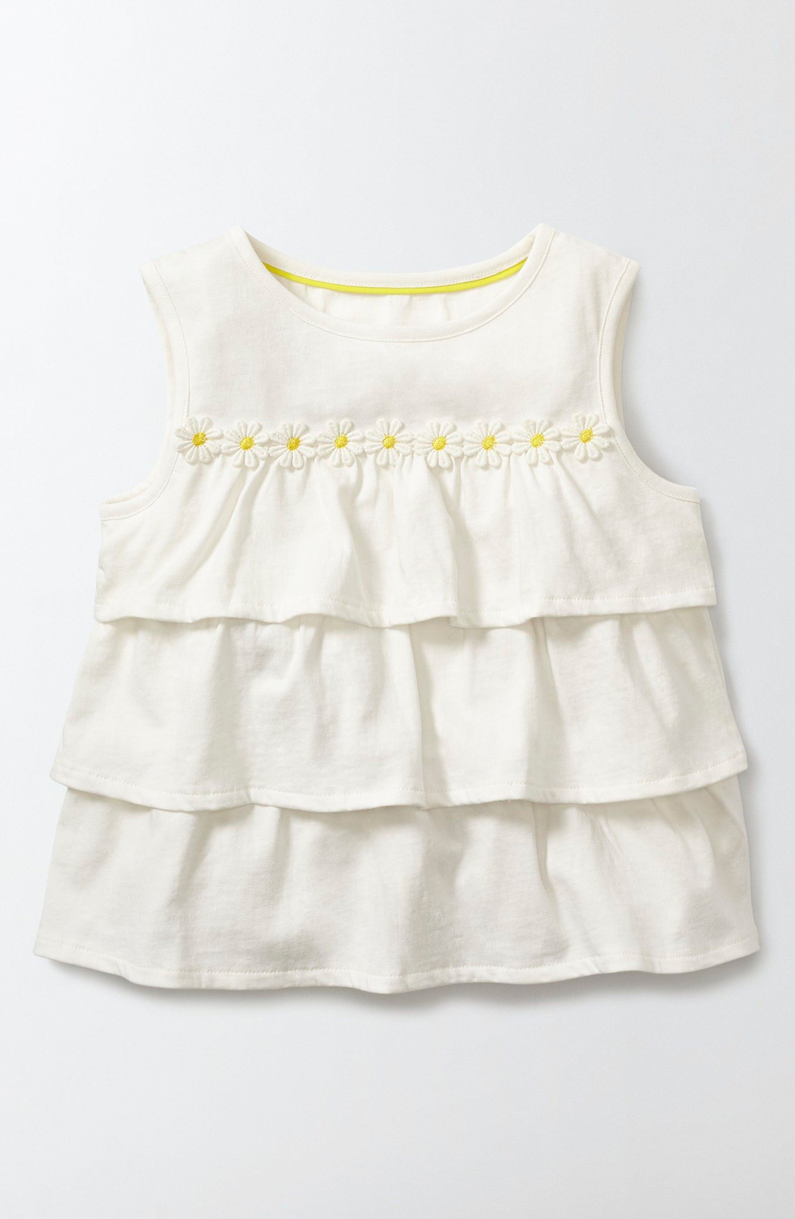Mini Boden Pretty Ruffle Tiered Top (Toddler Girls, Little Girls & Big Girls)