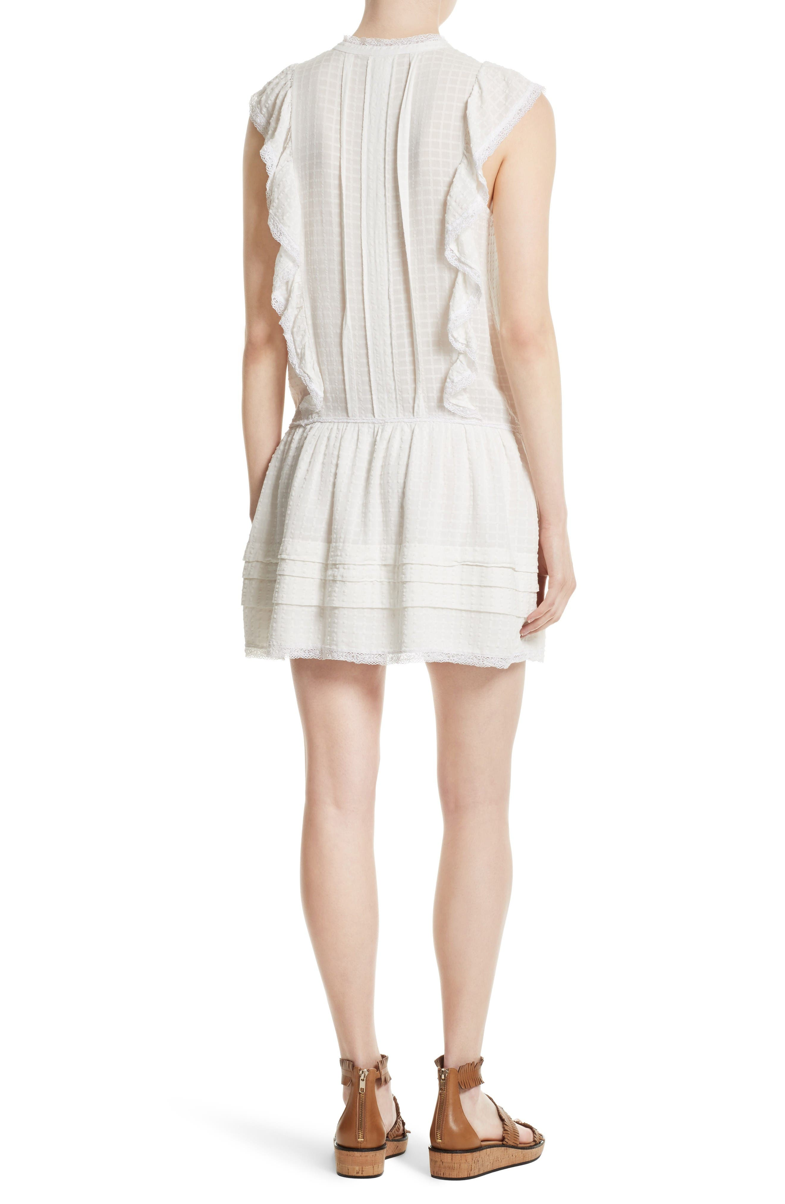 Alternate Image 2  - La Vie Rebecca Taylor Draped Ruffle Dress