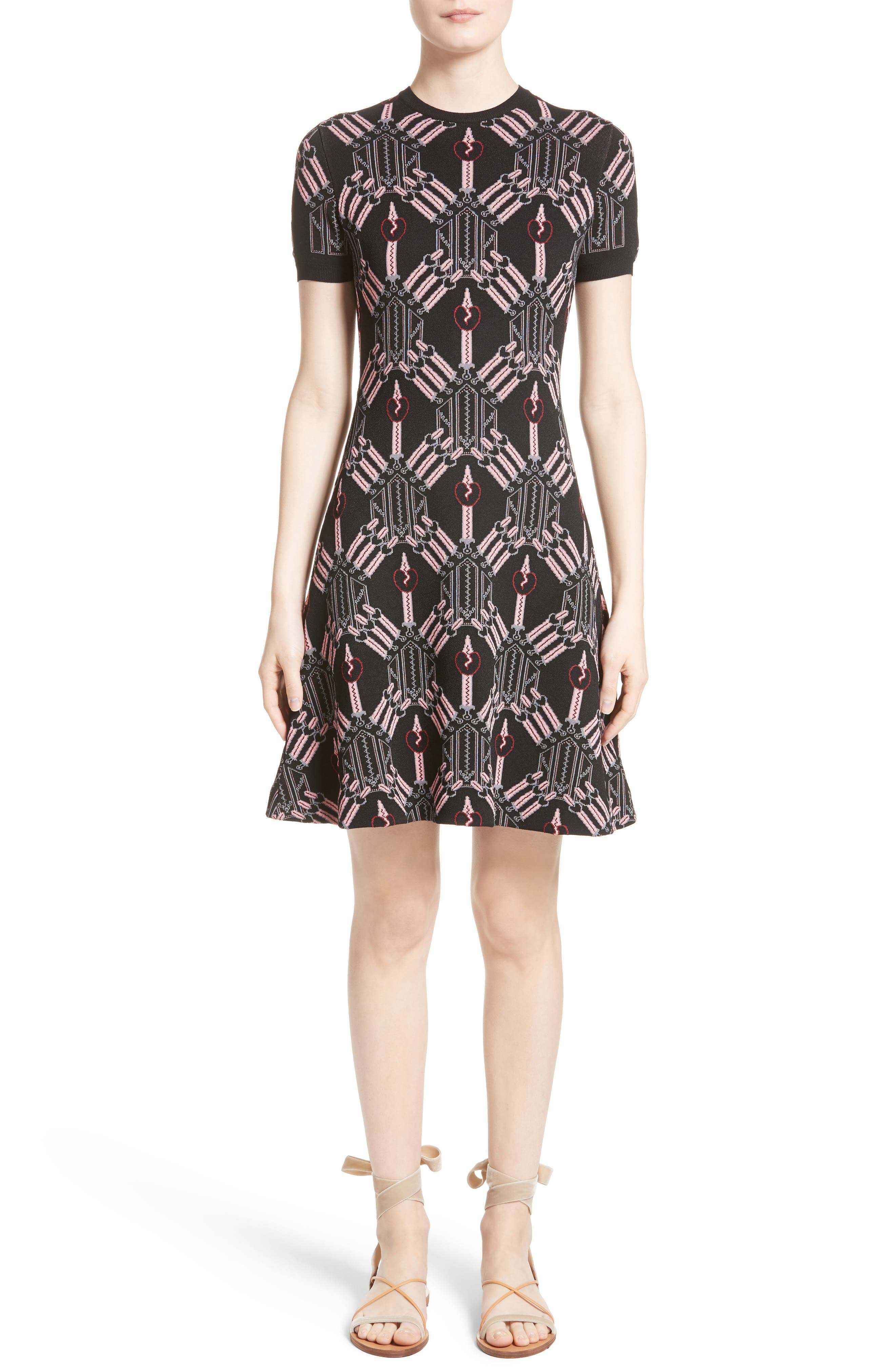 Main Image - Valentino Love Blade Fit & Flare Dress