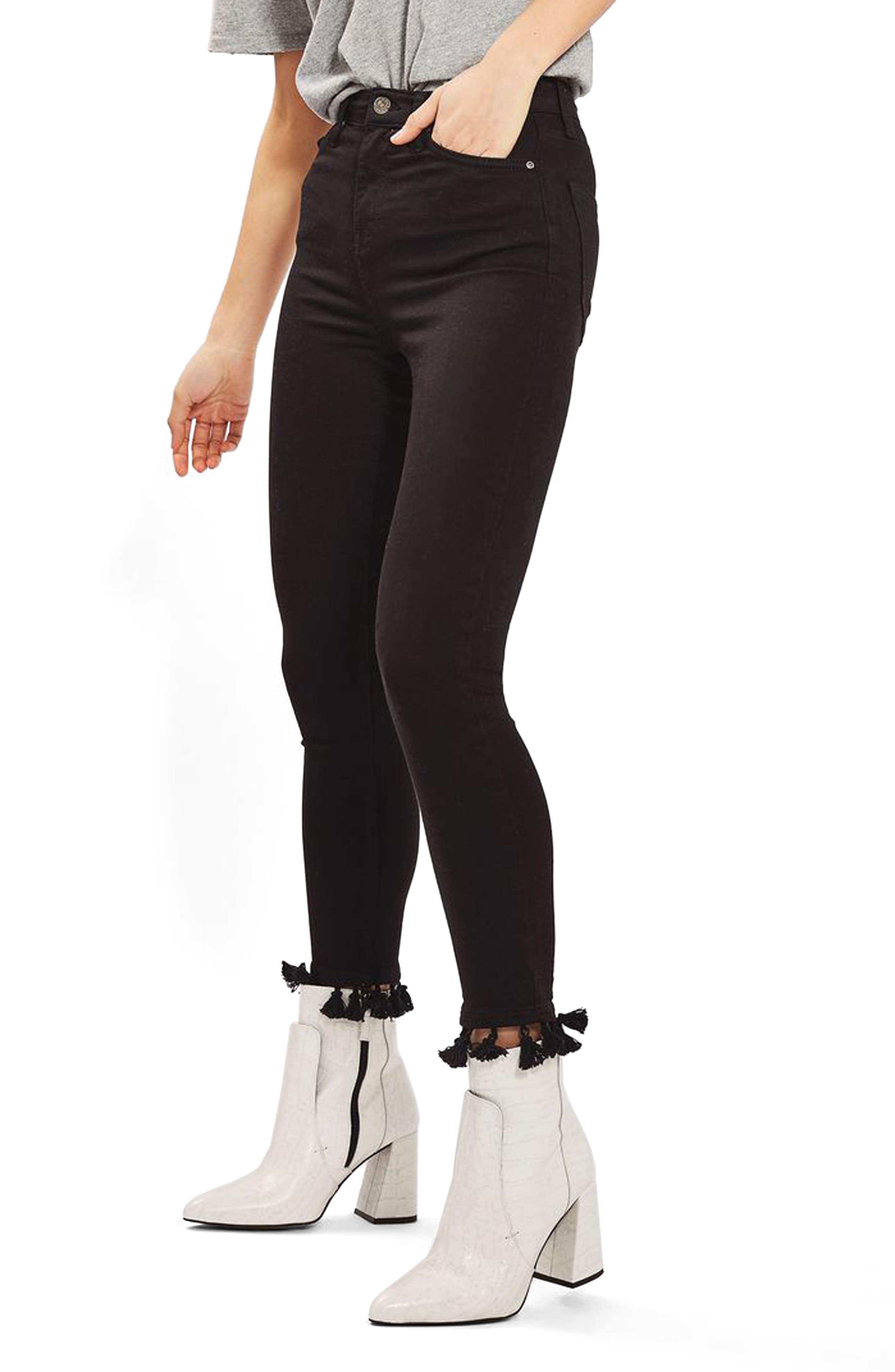 Topshop Jamie Tassel Hem Skinny Jeans (Regular & Petite)