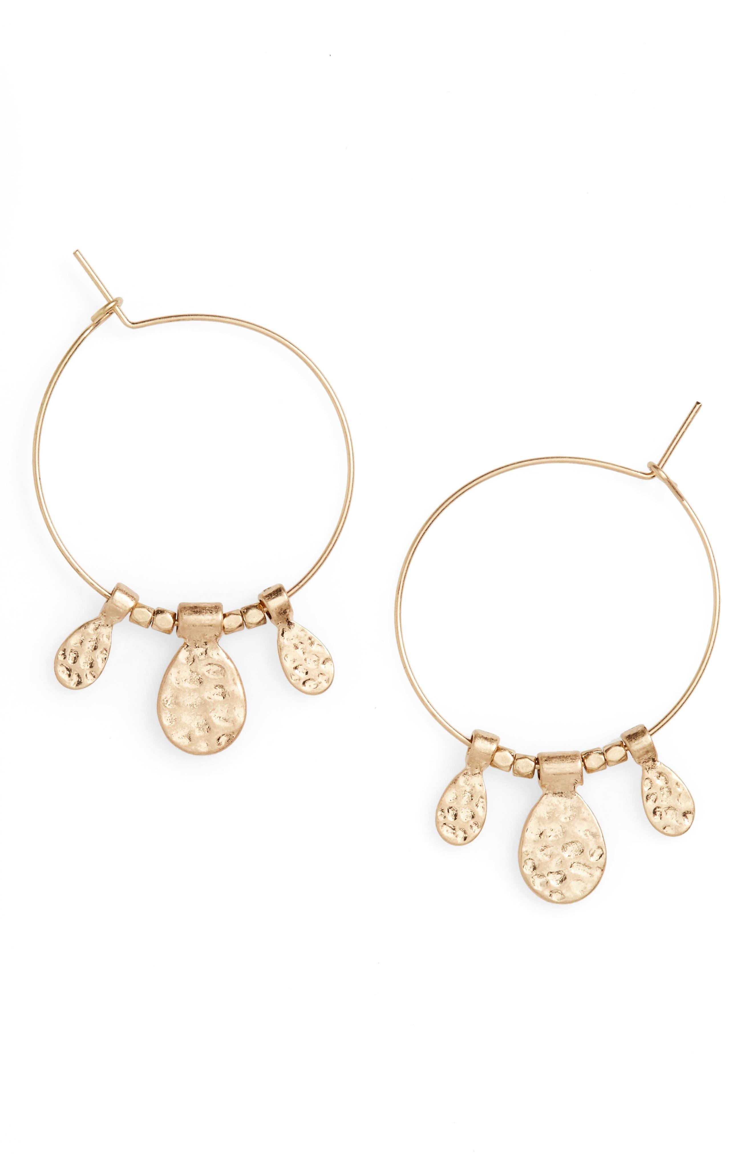 Panacea Charm Hoop Earrings
