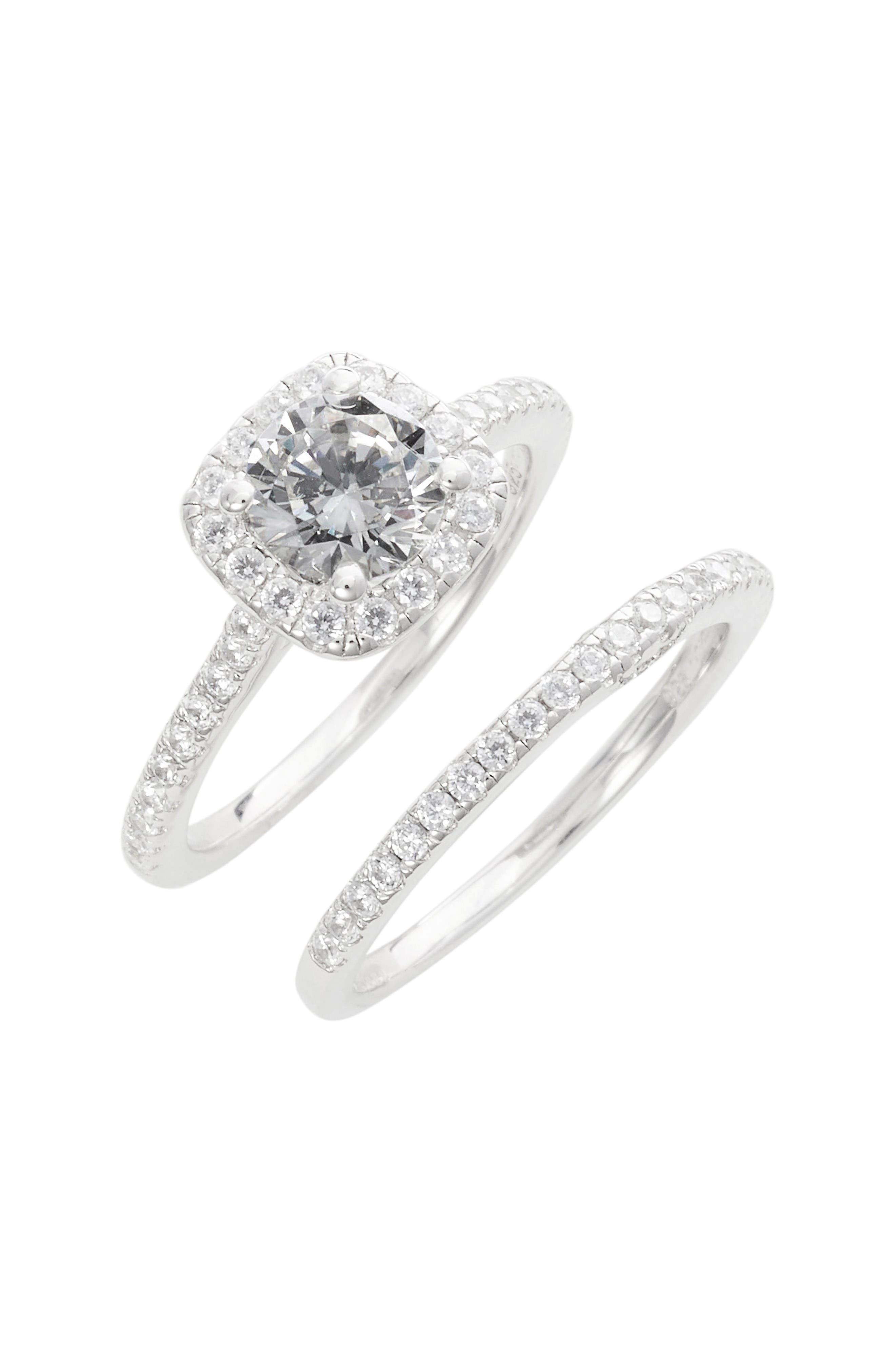 Alternate Image 1 Selected - Lafonn Simulated Diamond Engagement Ring & Band