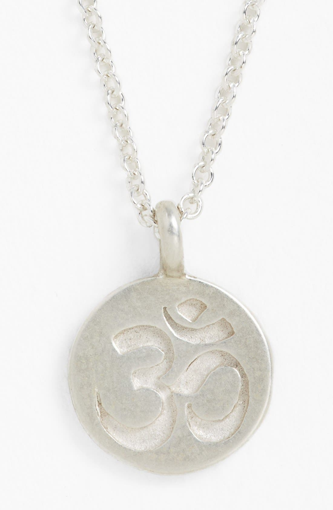Alternate Image 3  - Dogeared 'Mind, Body & Spirit' Om Pendant Necklace