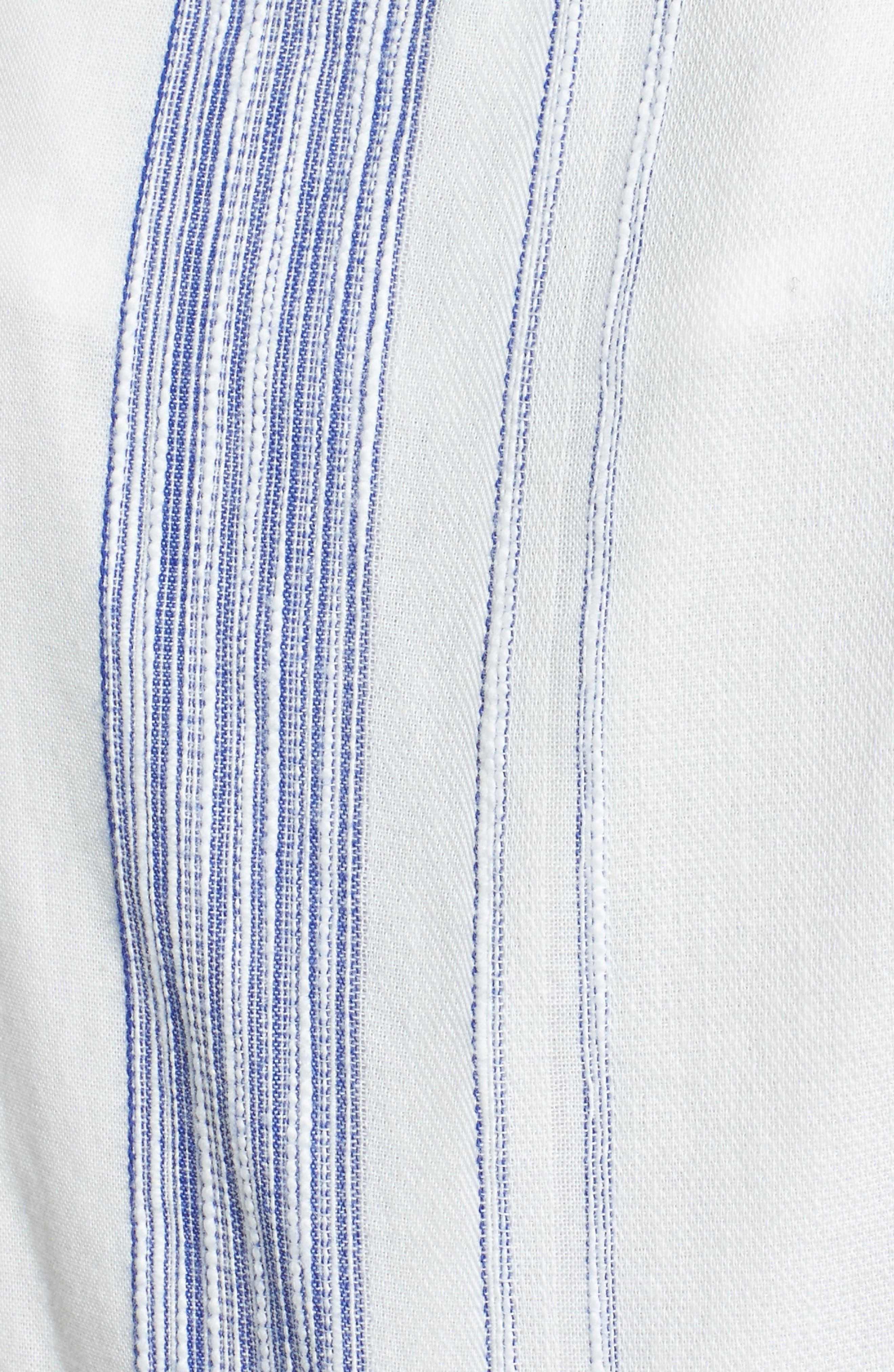 Alternate Image 5  - J.O.A. Crop Stripe Cotton Jumpsuit