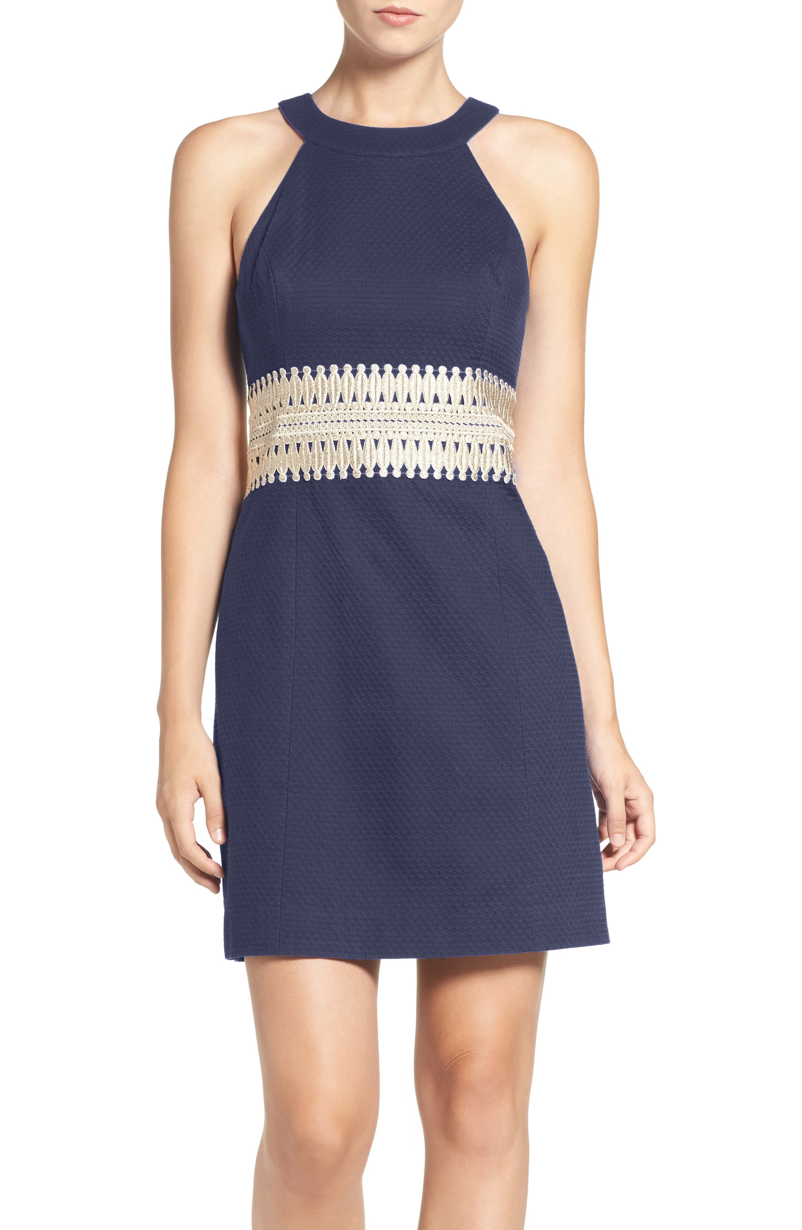 Alternate Image 1 Selected - Lilly Pulitzer® 'Ashlyn' Lace Waist Cotton Sheath Dress