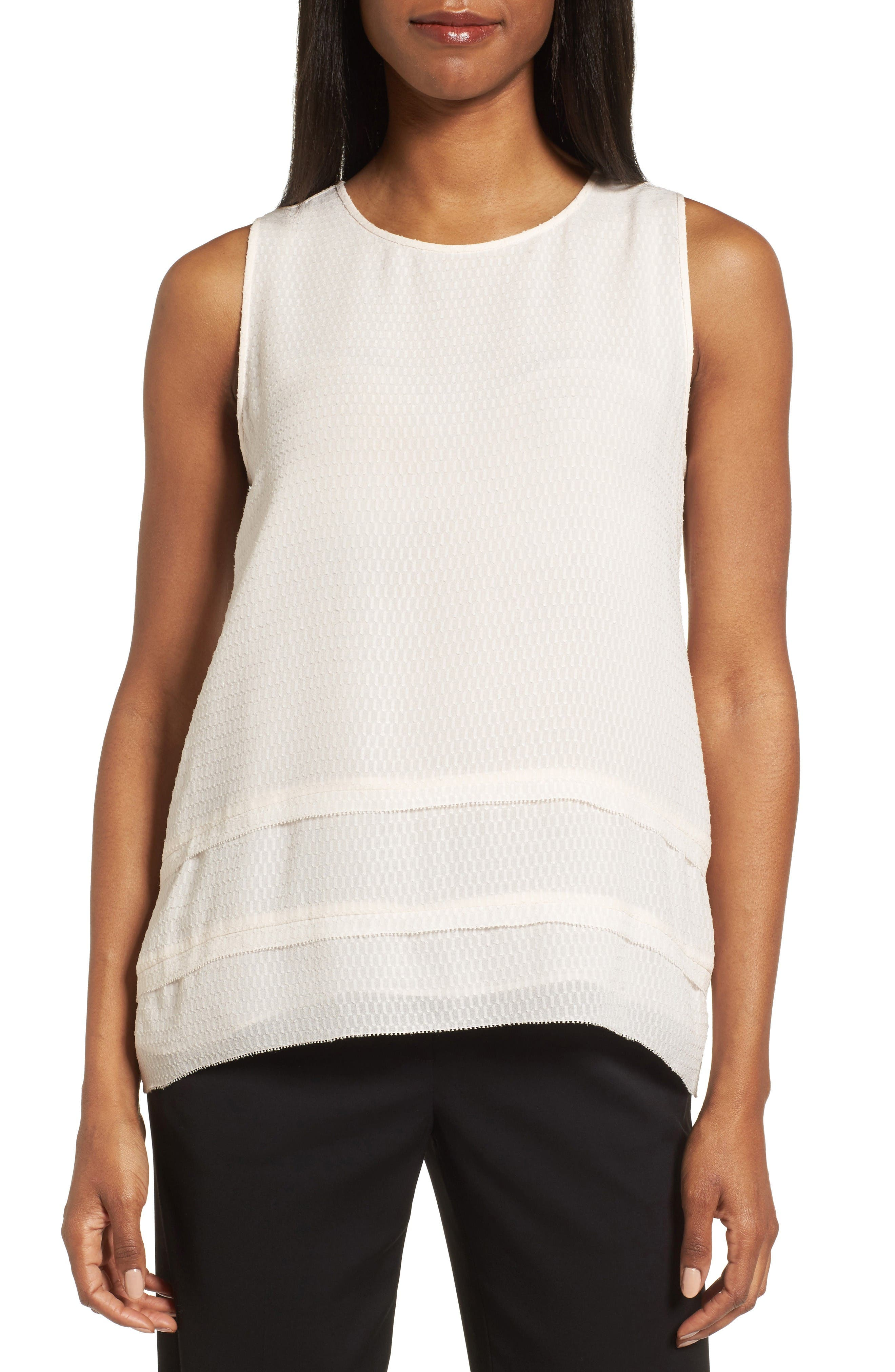 Classiques Entier® Tiered Silk Jacquard Top