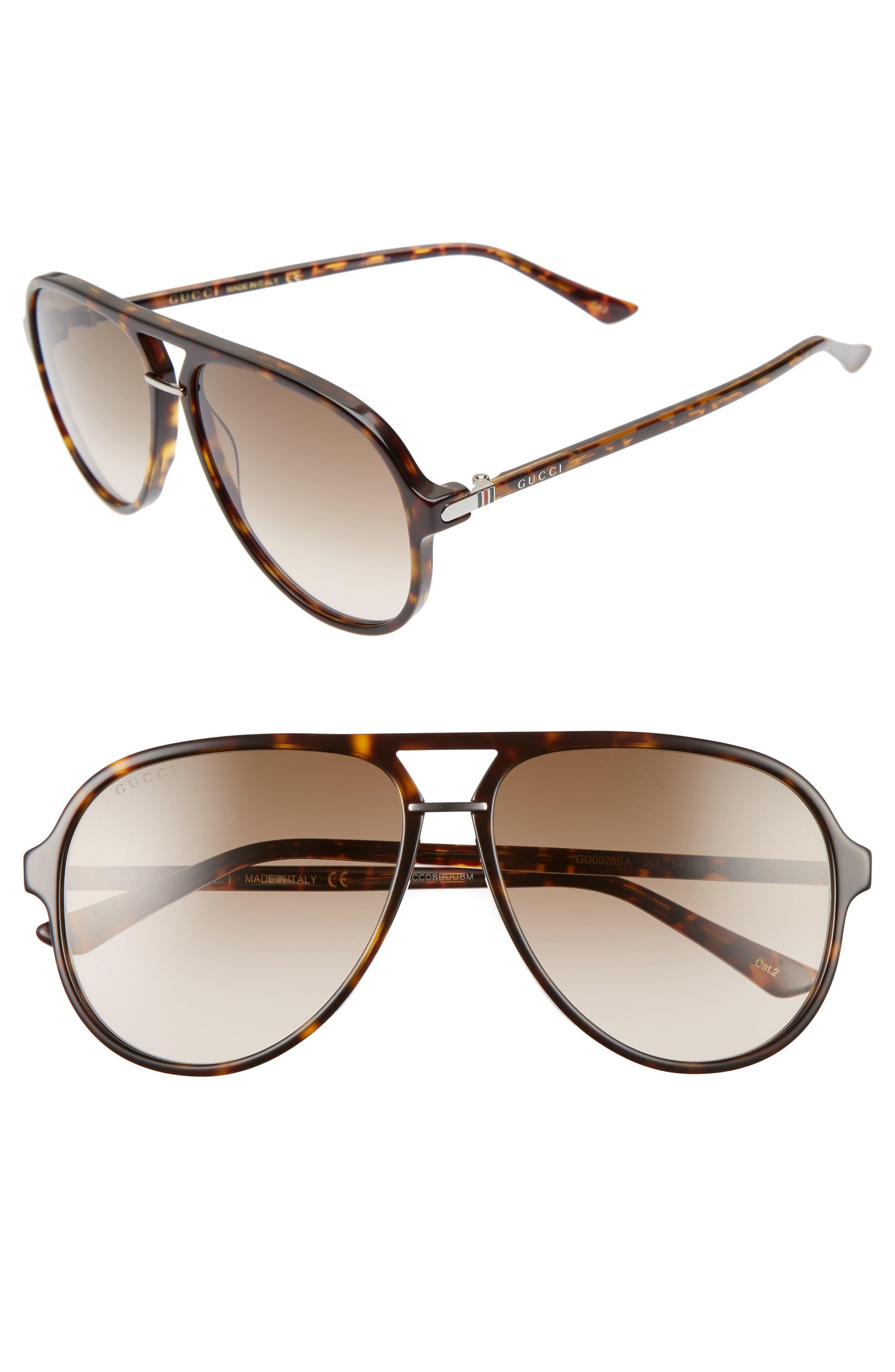 Gucci Retro Web Pilot 58mm Sunglasses