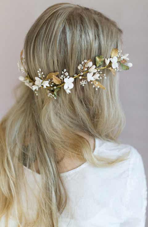 twigs   honey Floral Garden Headpiece