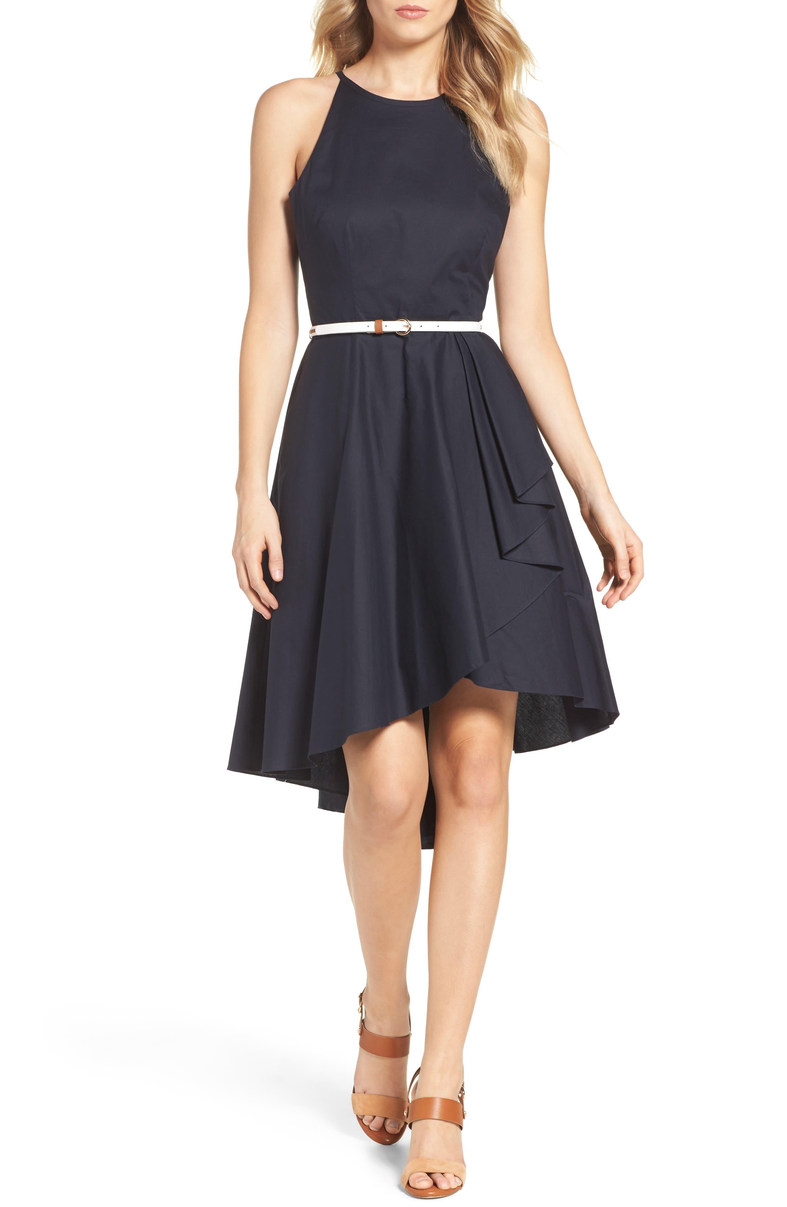 Eliza J High/Low Dress (Regular & Petite)