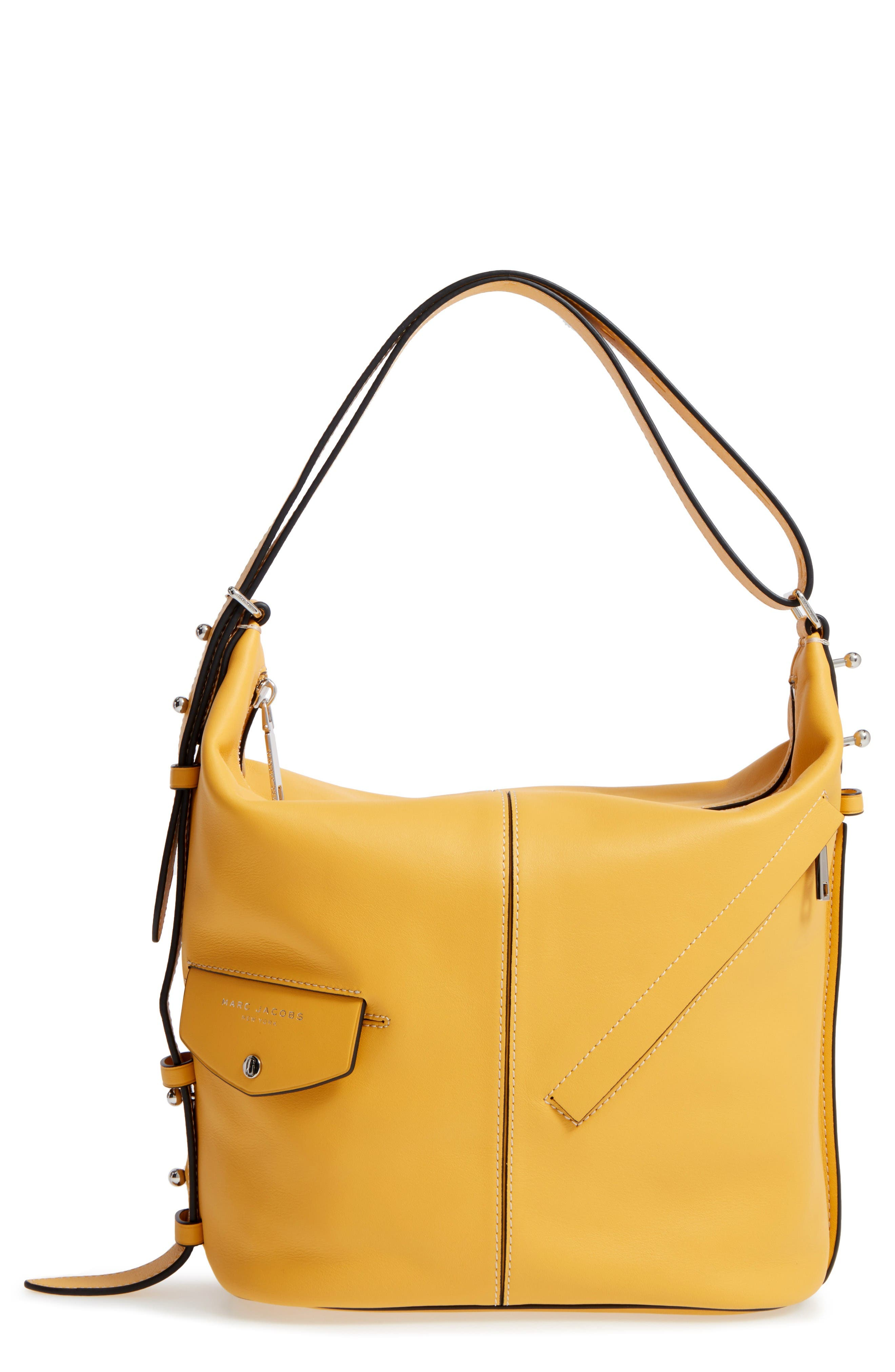 MARC JACOBS The Sling Convertible Leather Hobo