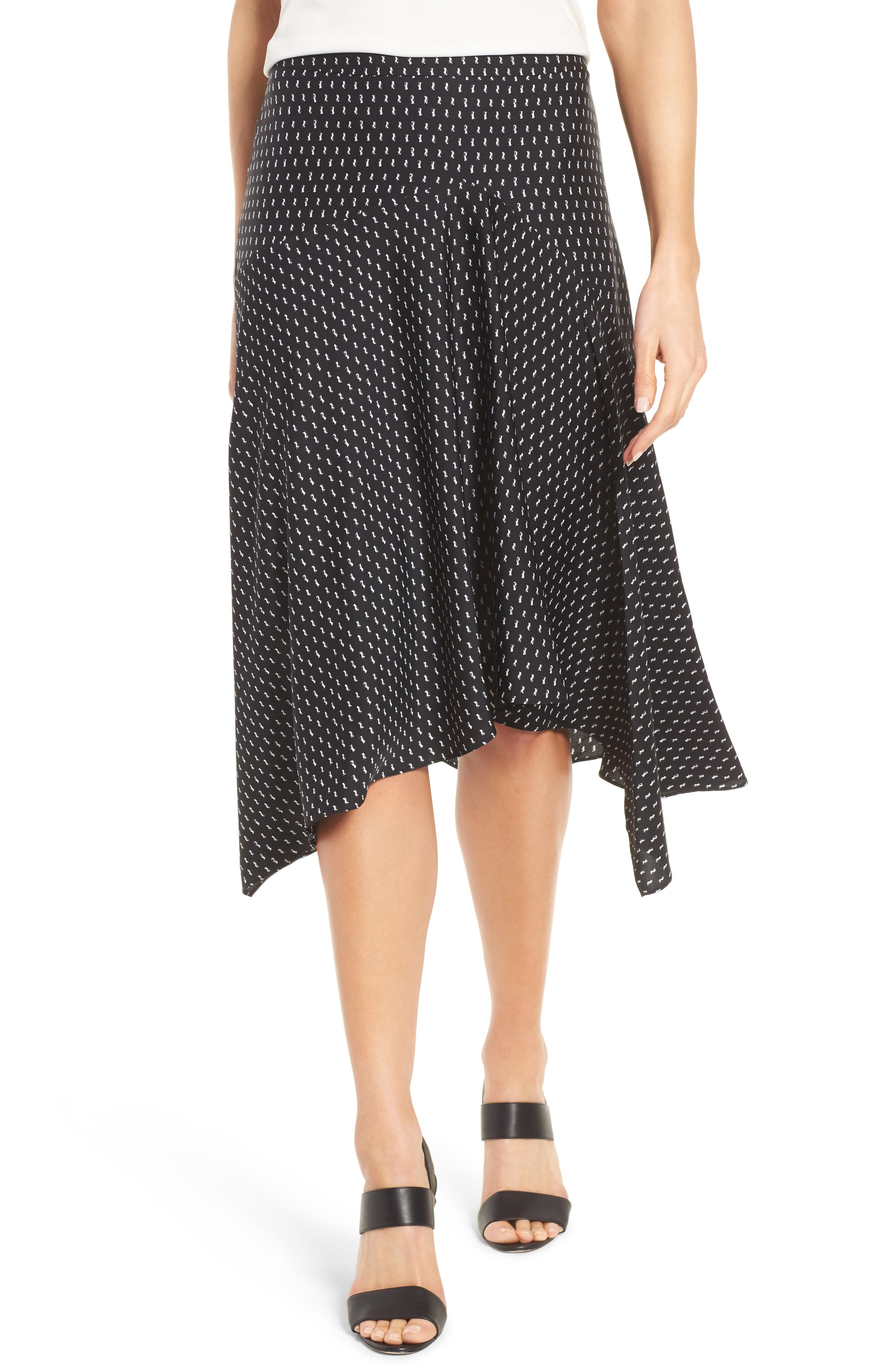 Alternate Image 1 Selected - Classiques Entier® Stretch Silk Midi Skirt