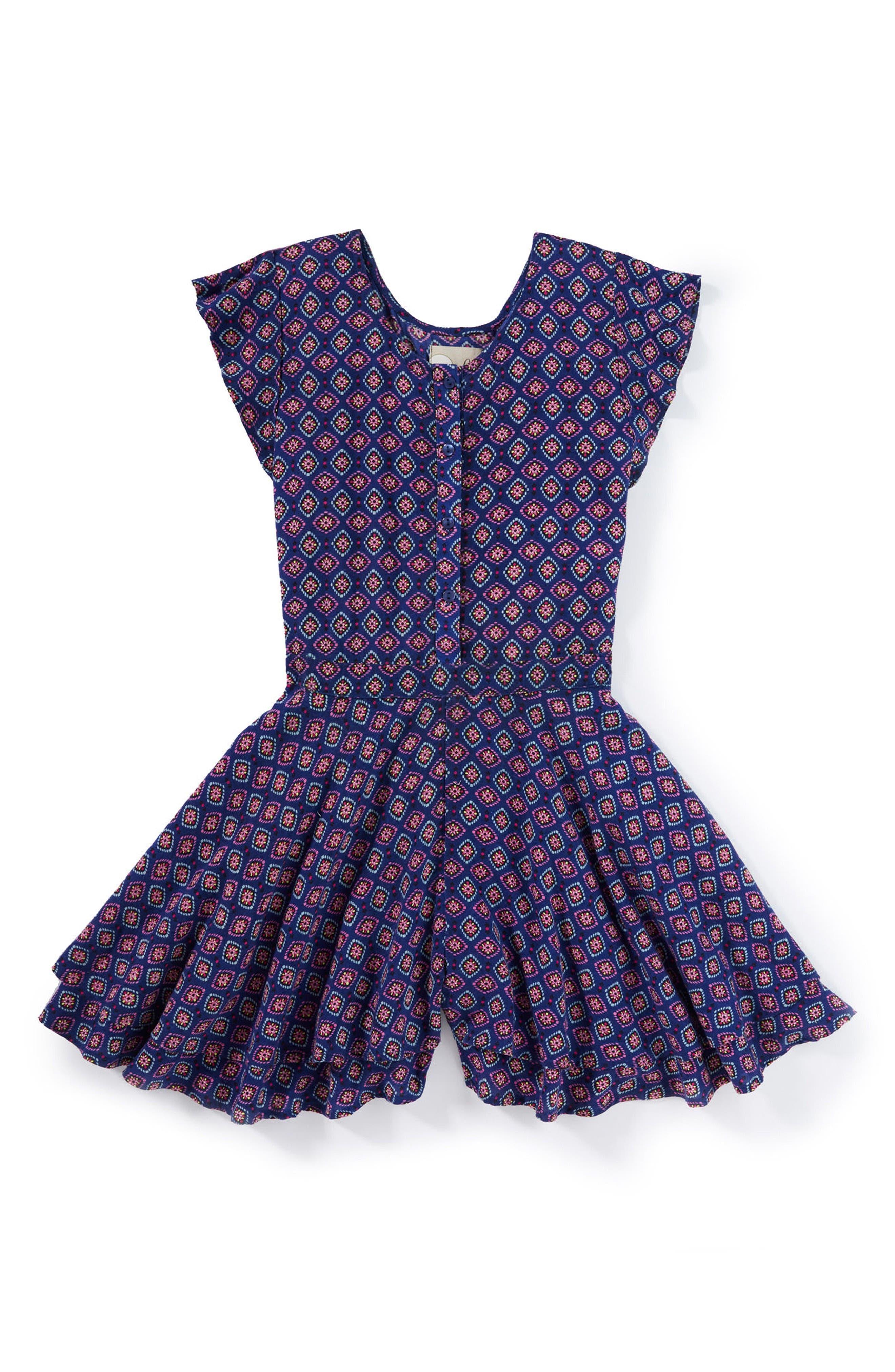 Peek Lenora Print Romper (Toddler Girls, Little Girls & Big Girls)