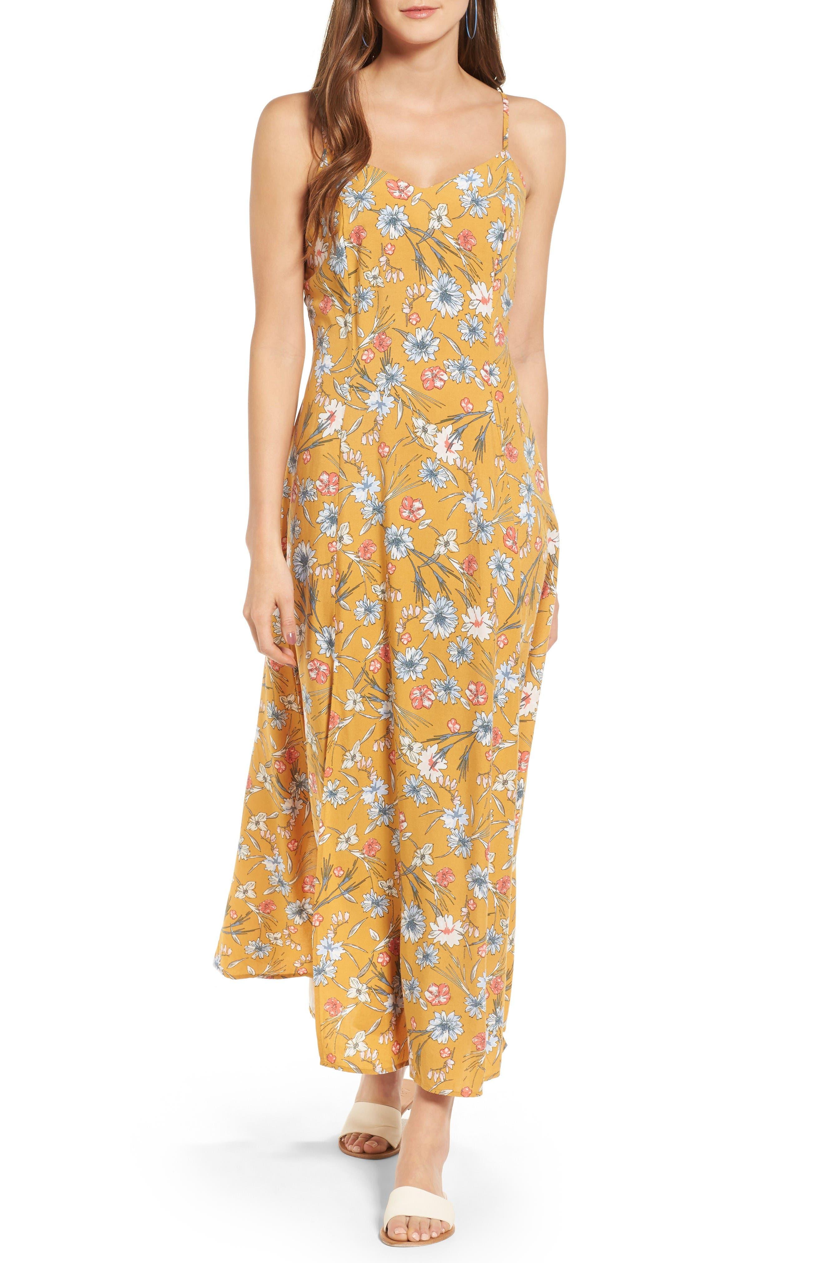 Love, Fire Floral Maxi Dress