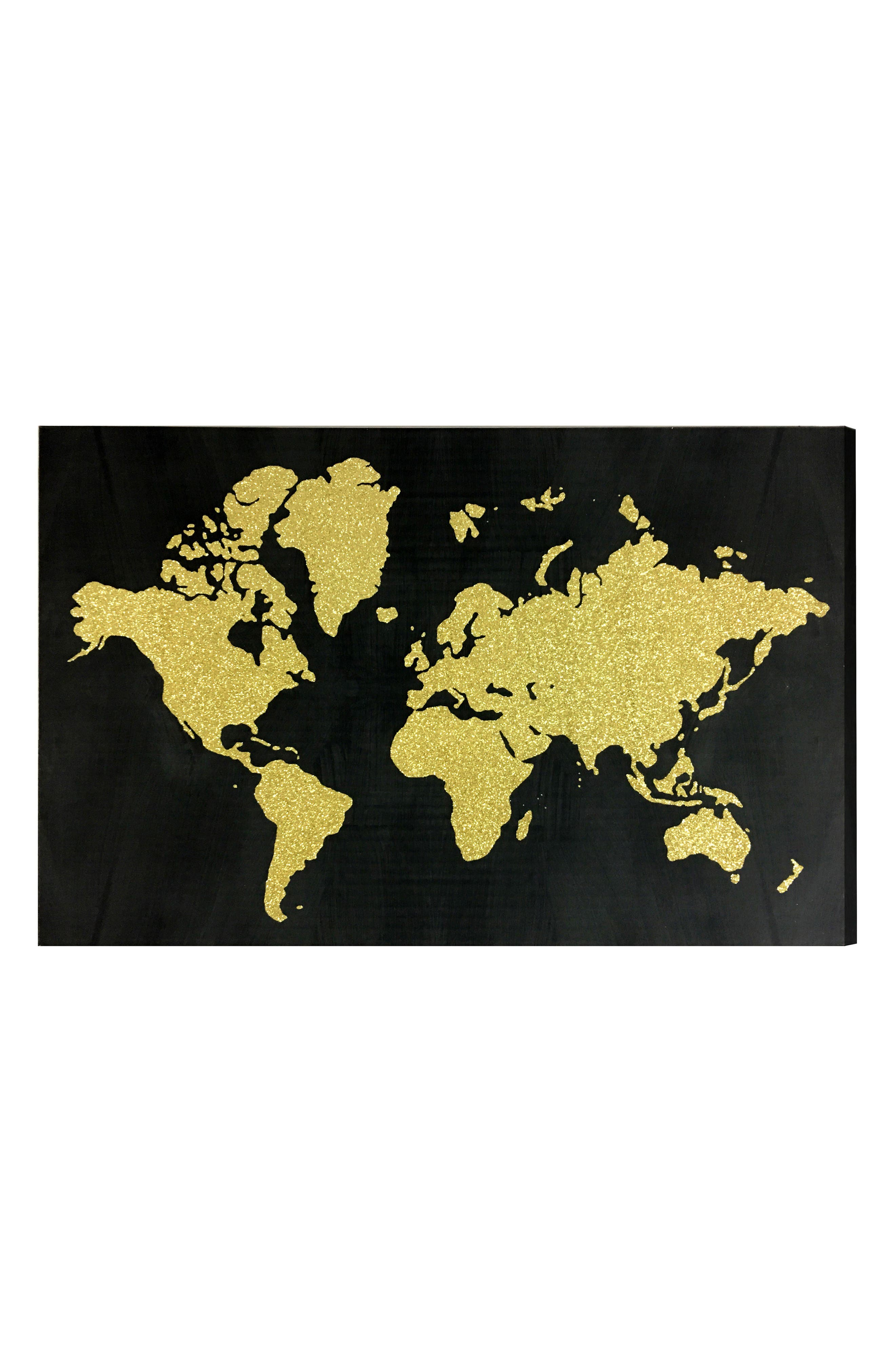 Main Image - Wynwood World Map Canvas Wall Art