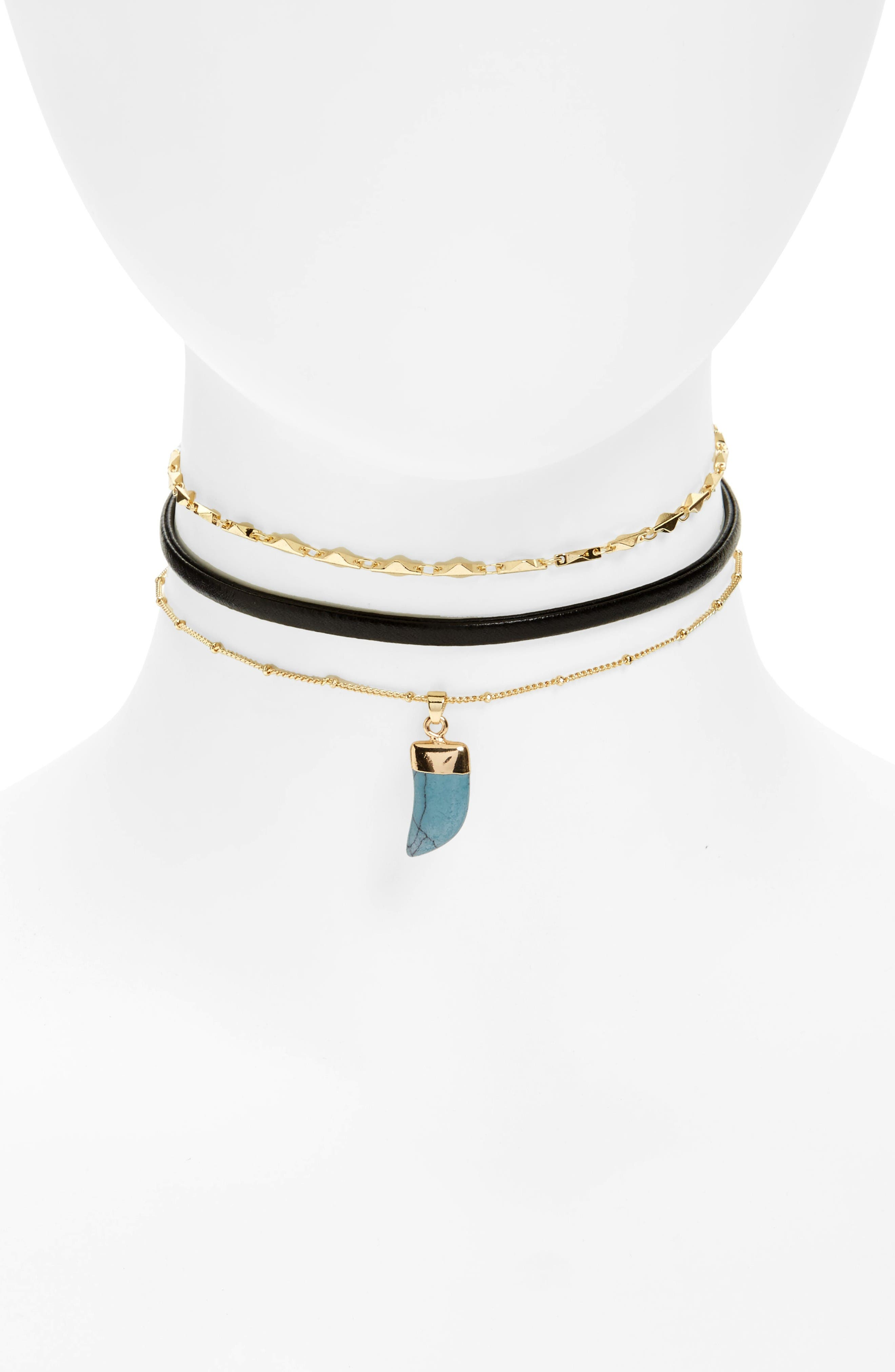 Loren Olivia Layered Choker Necklace