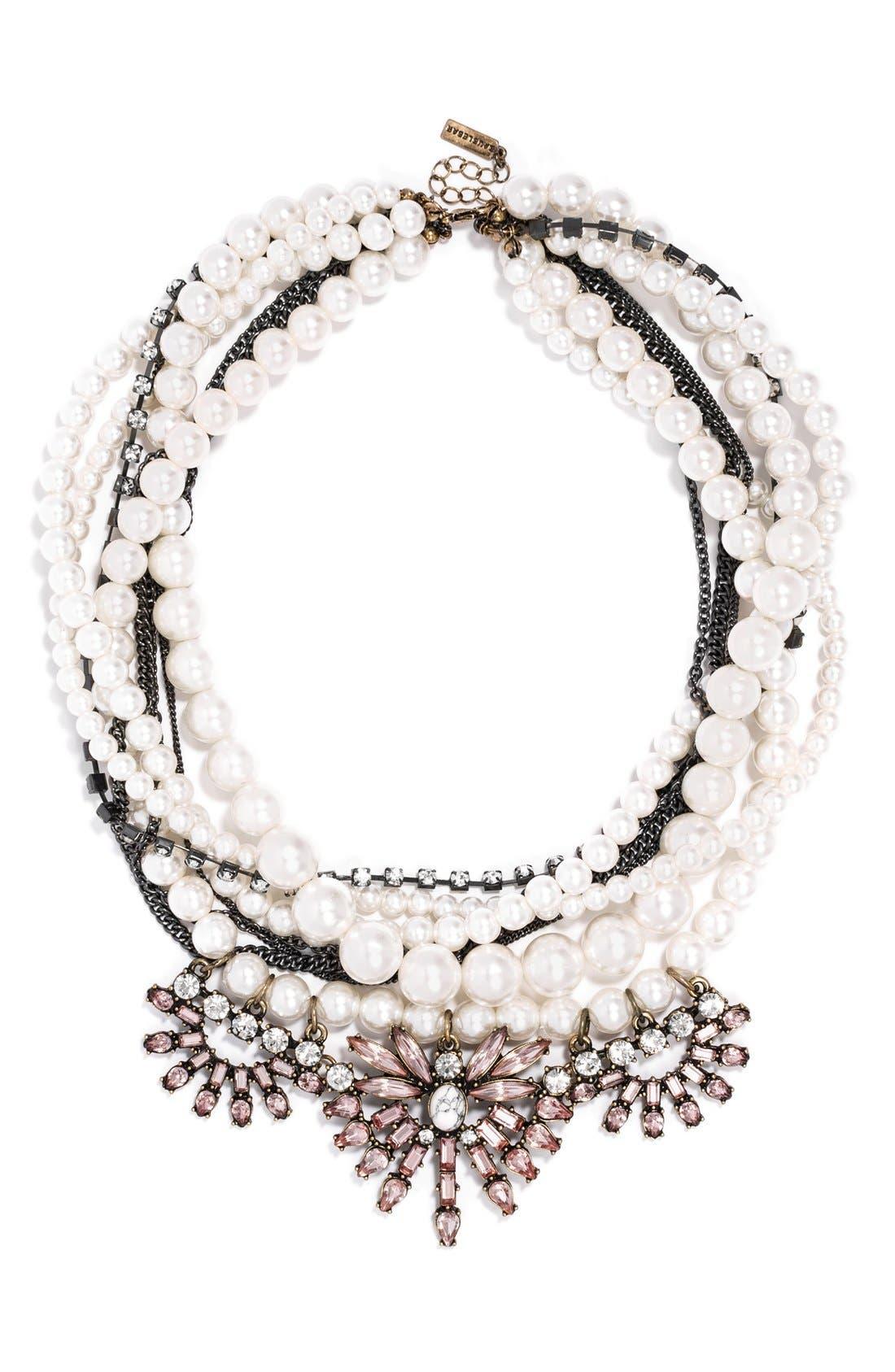 Alternate Image 1 Selected - BaubleBar 'Bennett' Layered Bib Necklace