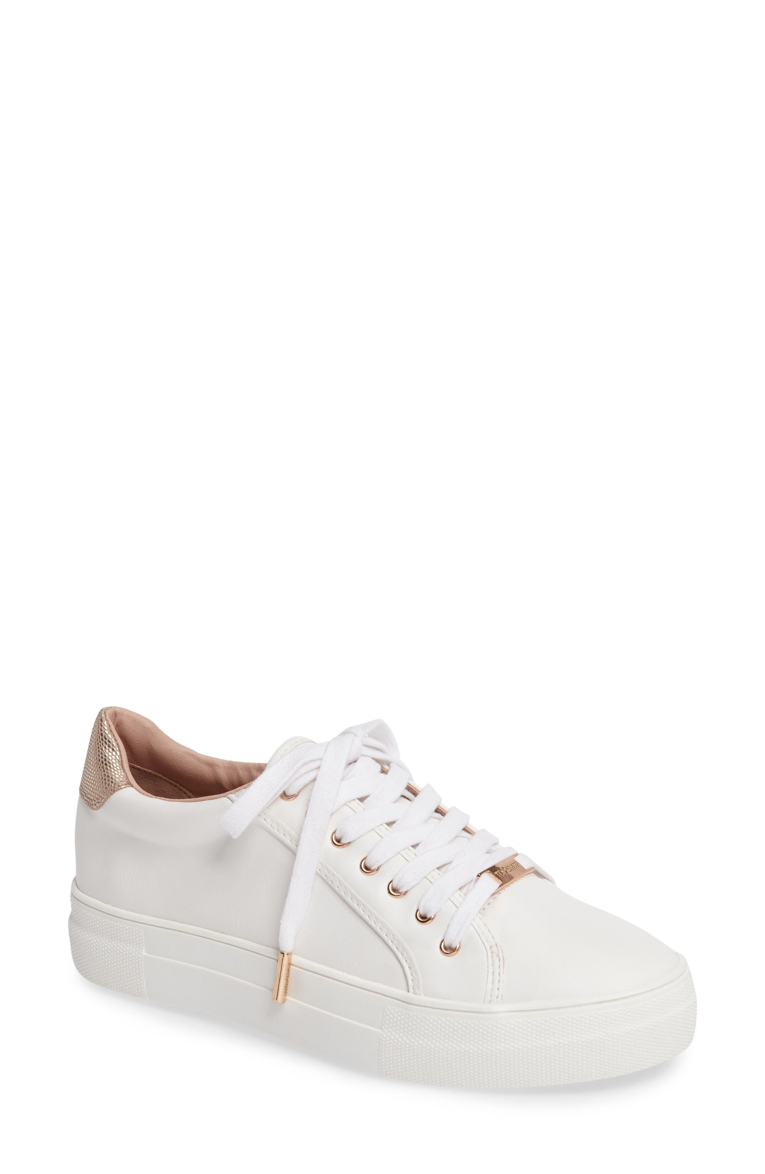Topshop Crystal Flatform Sneaker (Women)