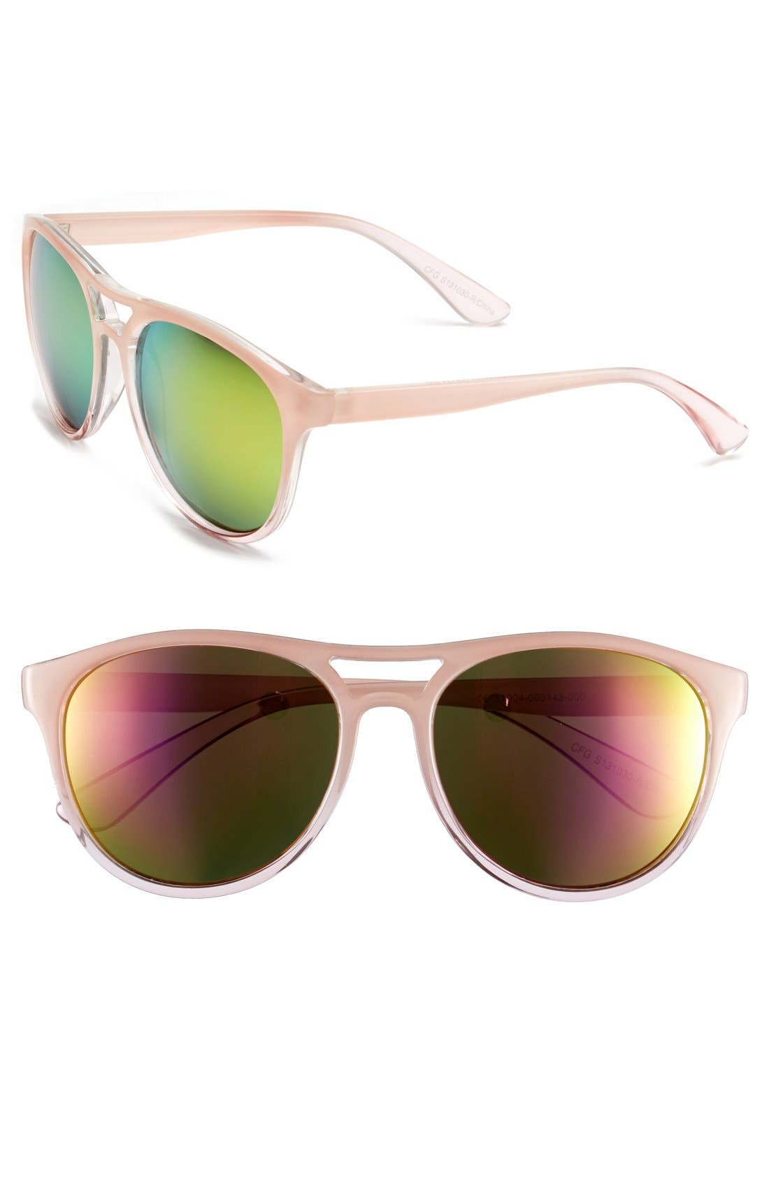 Main Image - BP. 55mm Oversize Retro Sunglasses (Juniors)