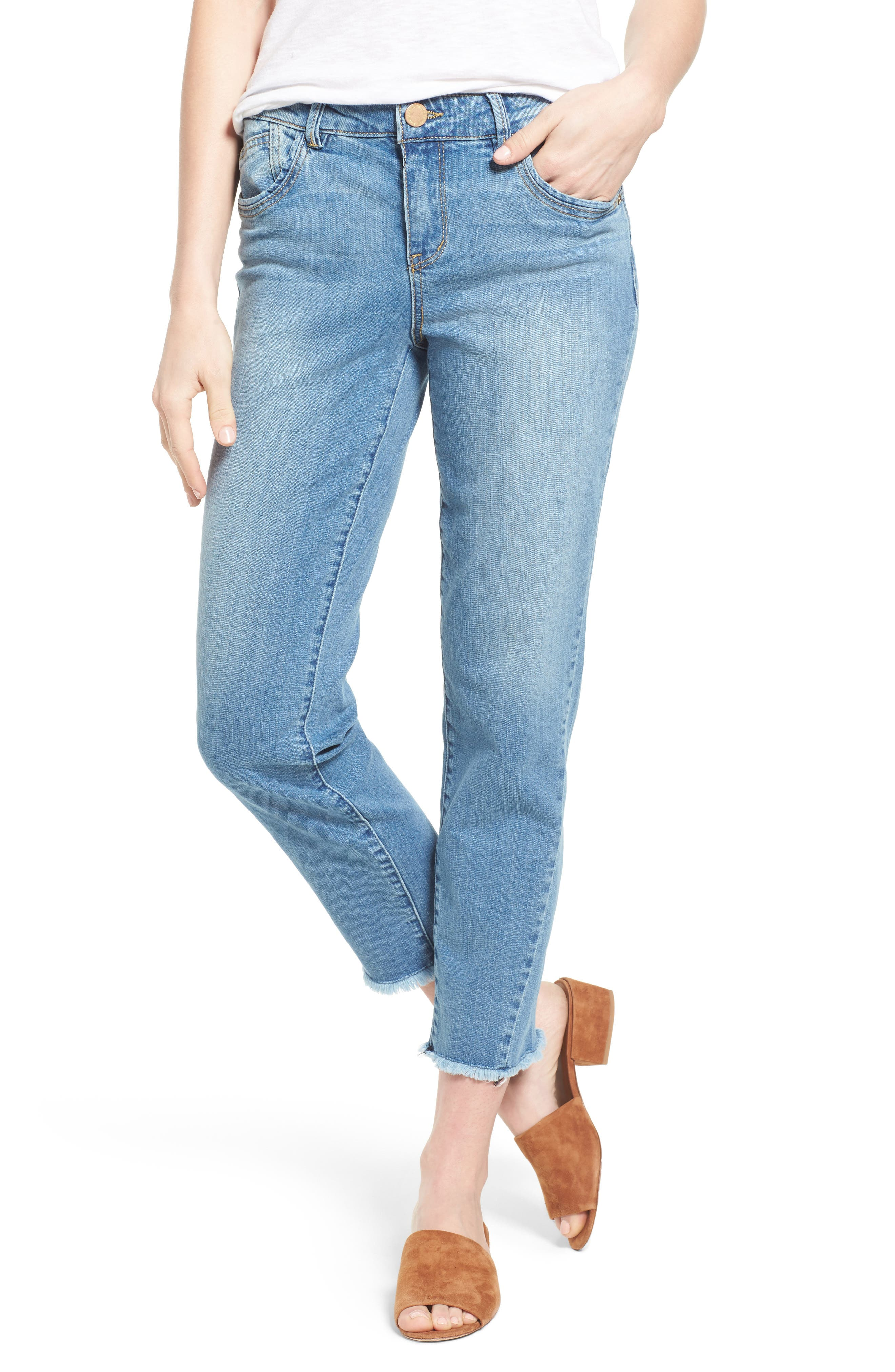 Wit & Wisdom High Waist Crop Jeans (Regular & Petite)
