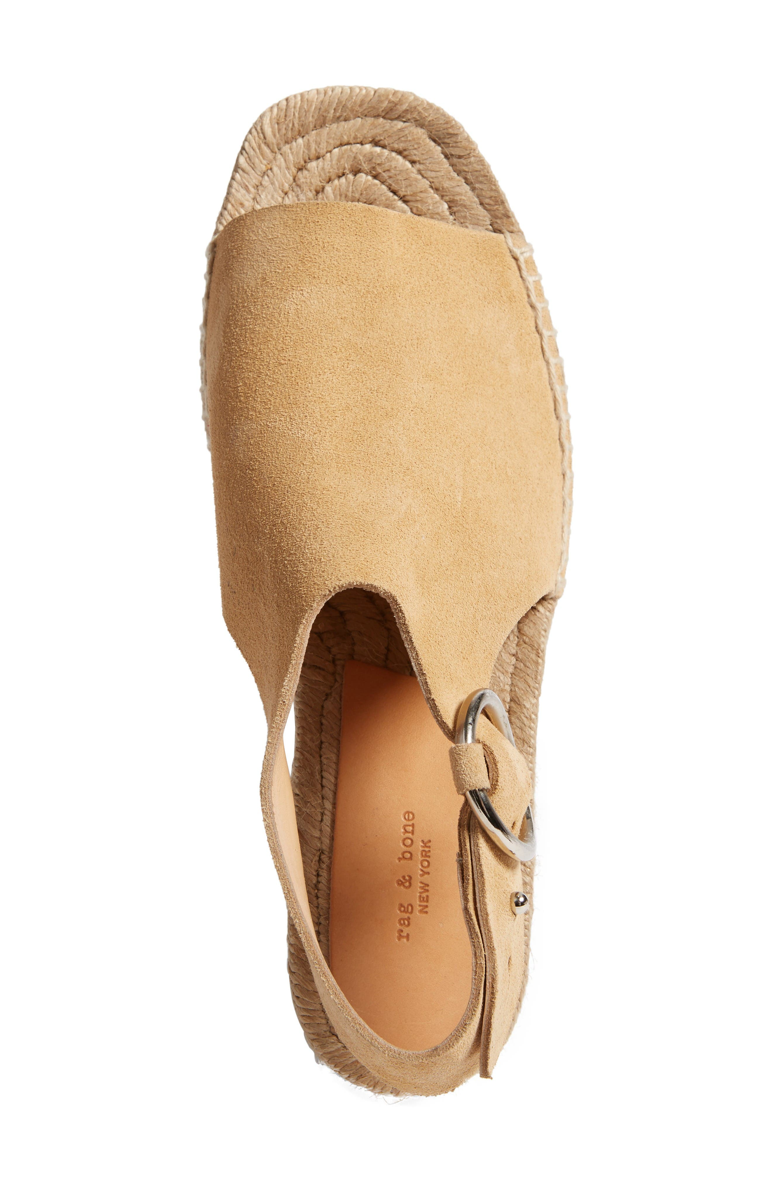 Alternate Image 5  - rag & bone Calla Espadrille Wedge (Women)