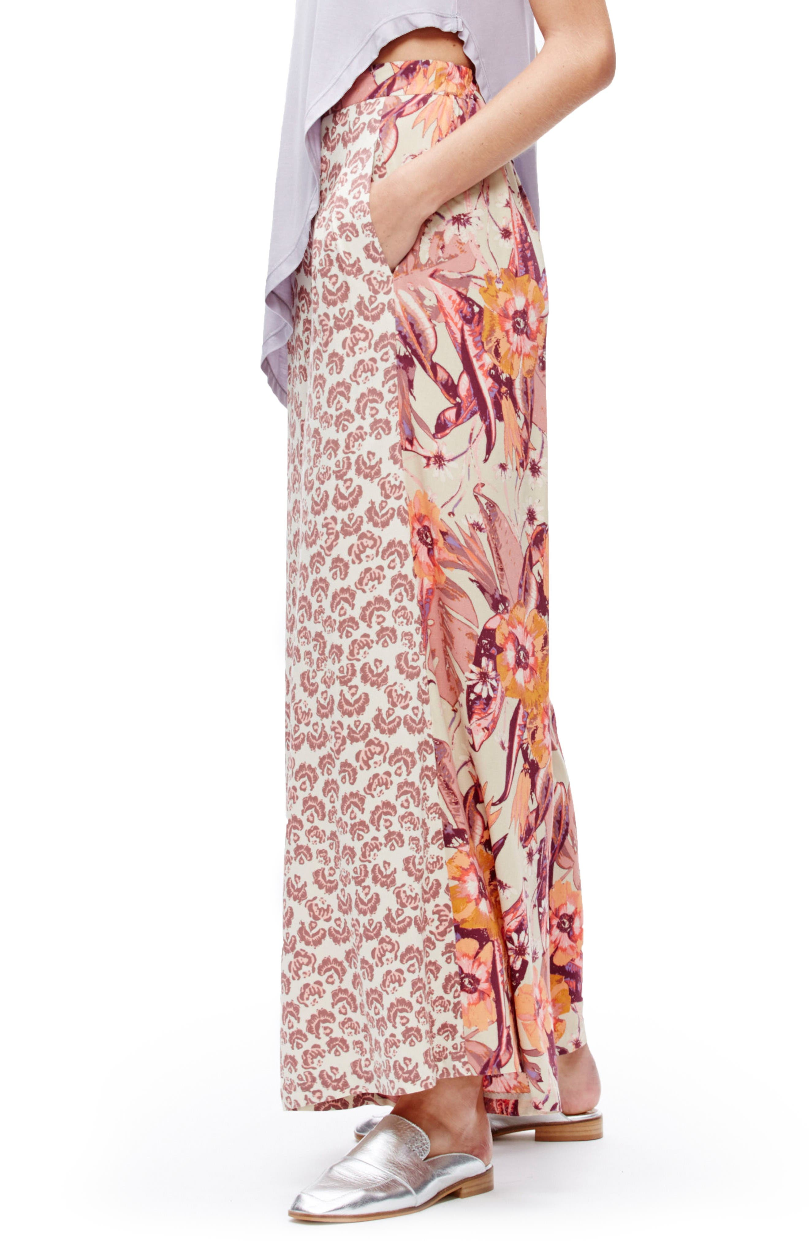 Free People In the Mix Wide Leg Pants