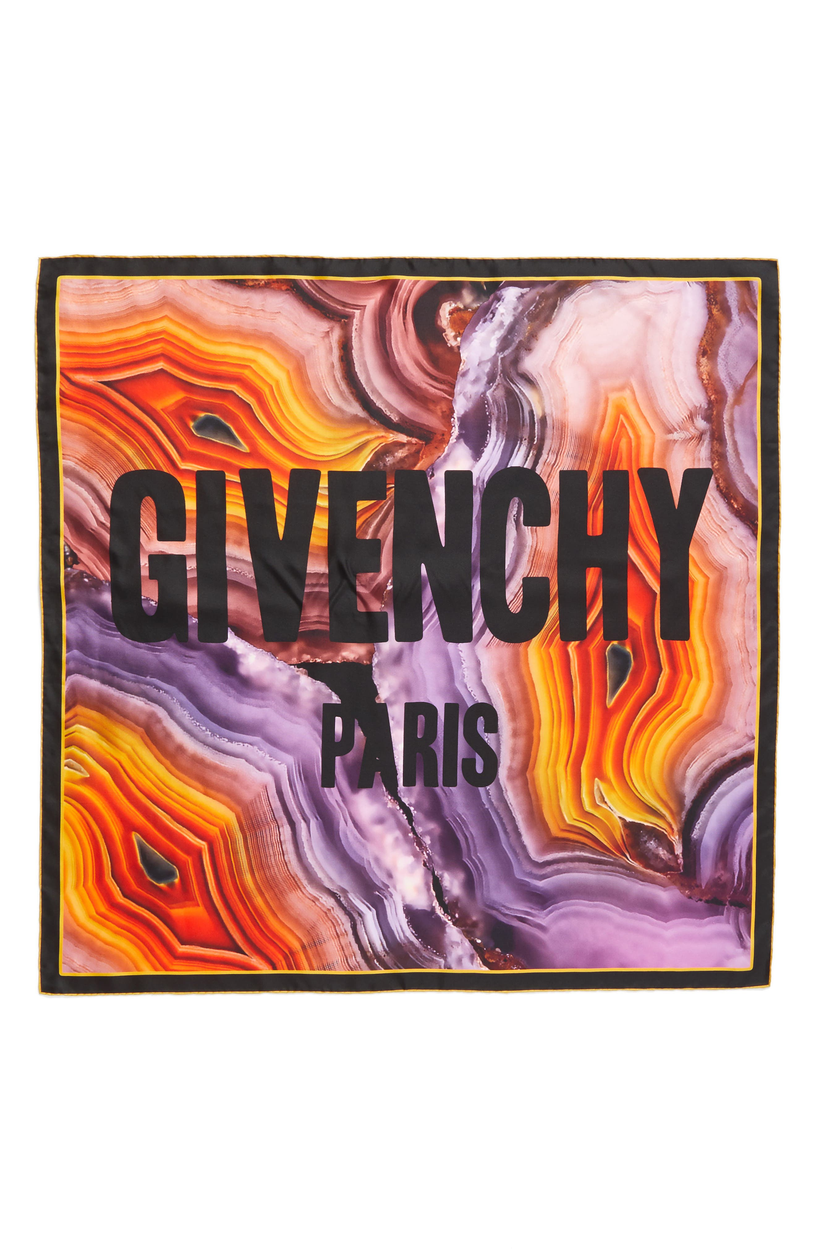 Givenchy Flame Mineral Silk Square Scarf