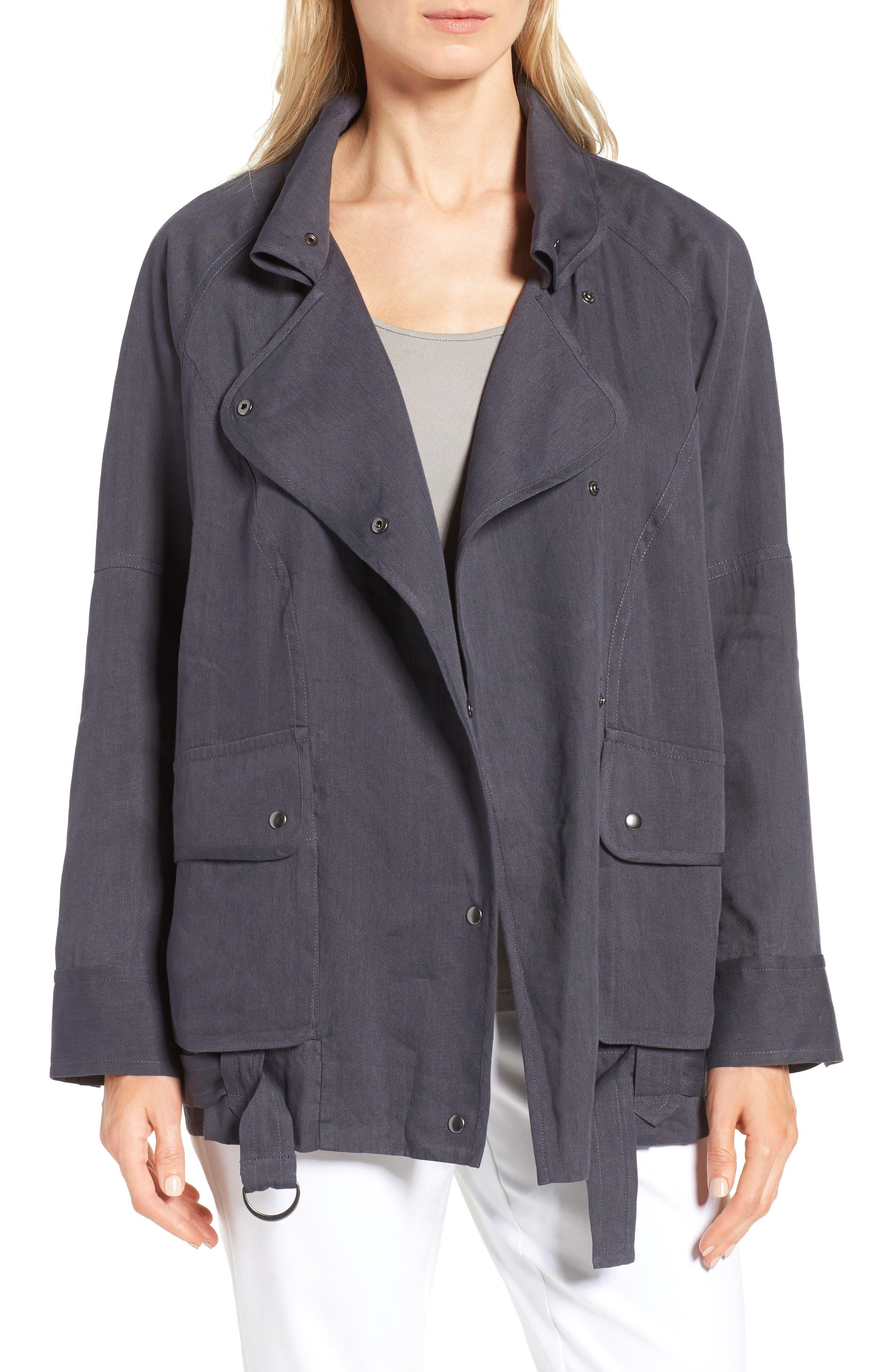Nordstrom Collection Linen Blend Utility Jacket
