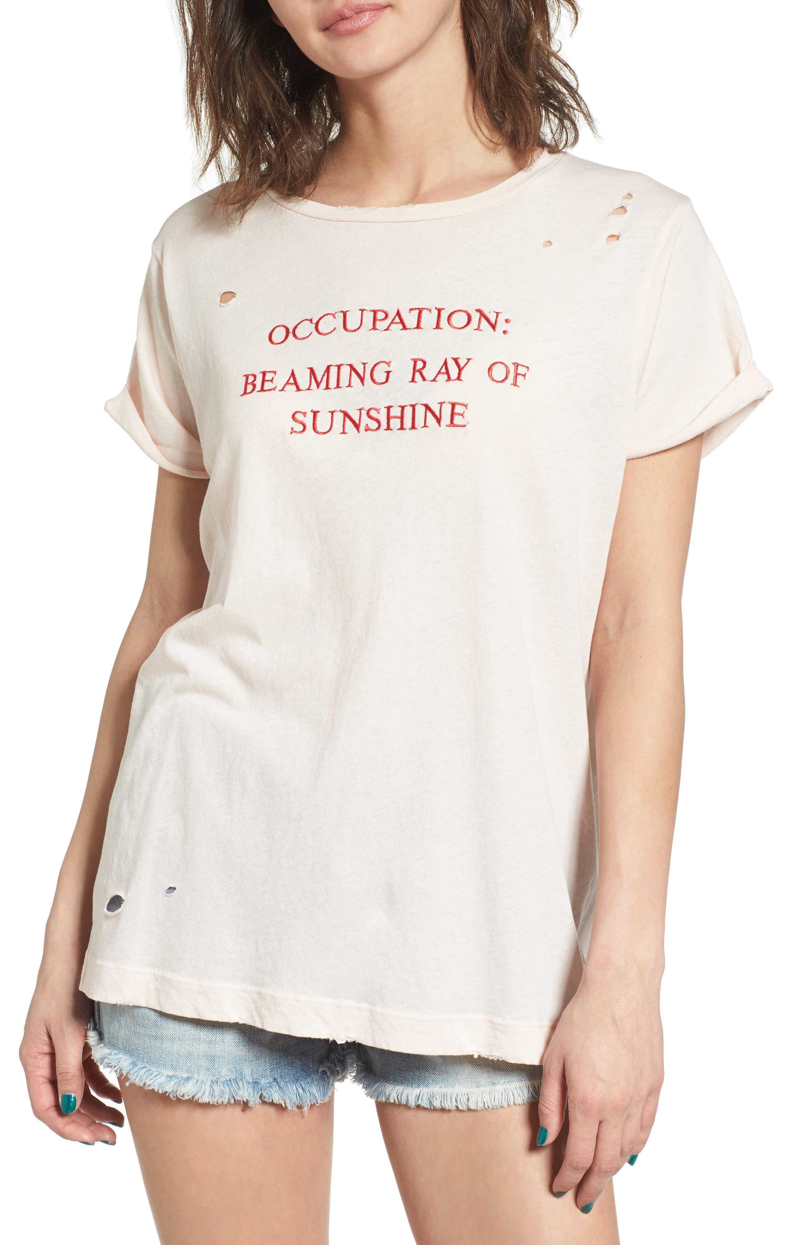 Wildfox Part Time Destructed Tee