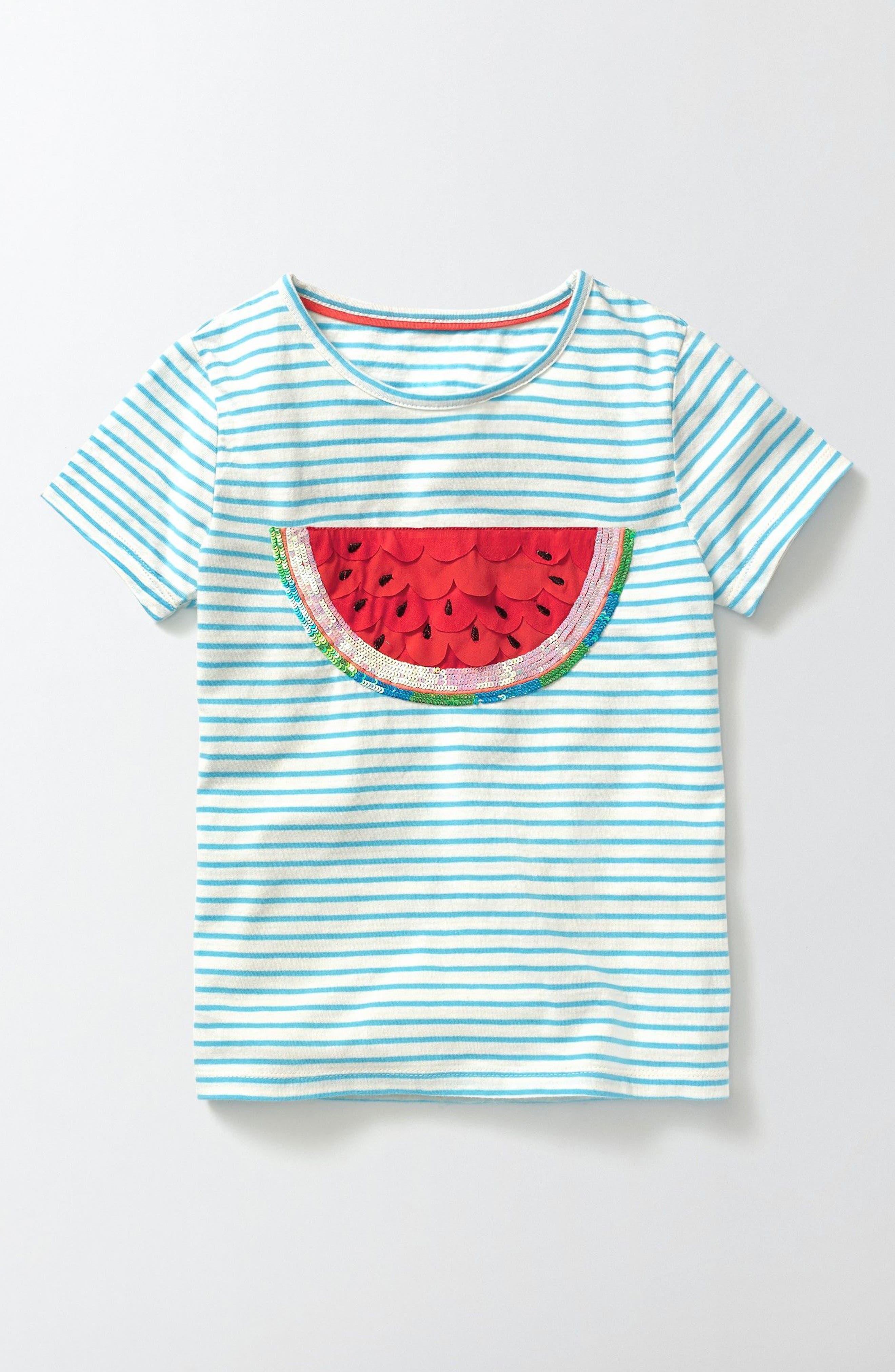 Mini Boden Fluttery Fruit Tee (Toddler Girls, Little Girls & Big Girls)