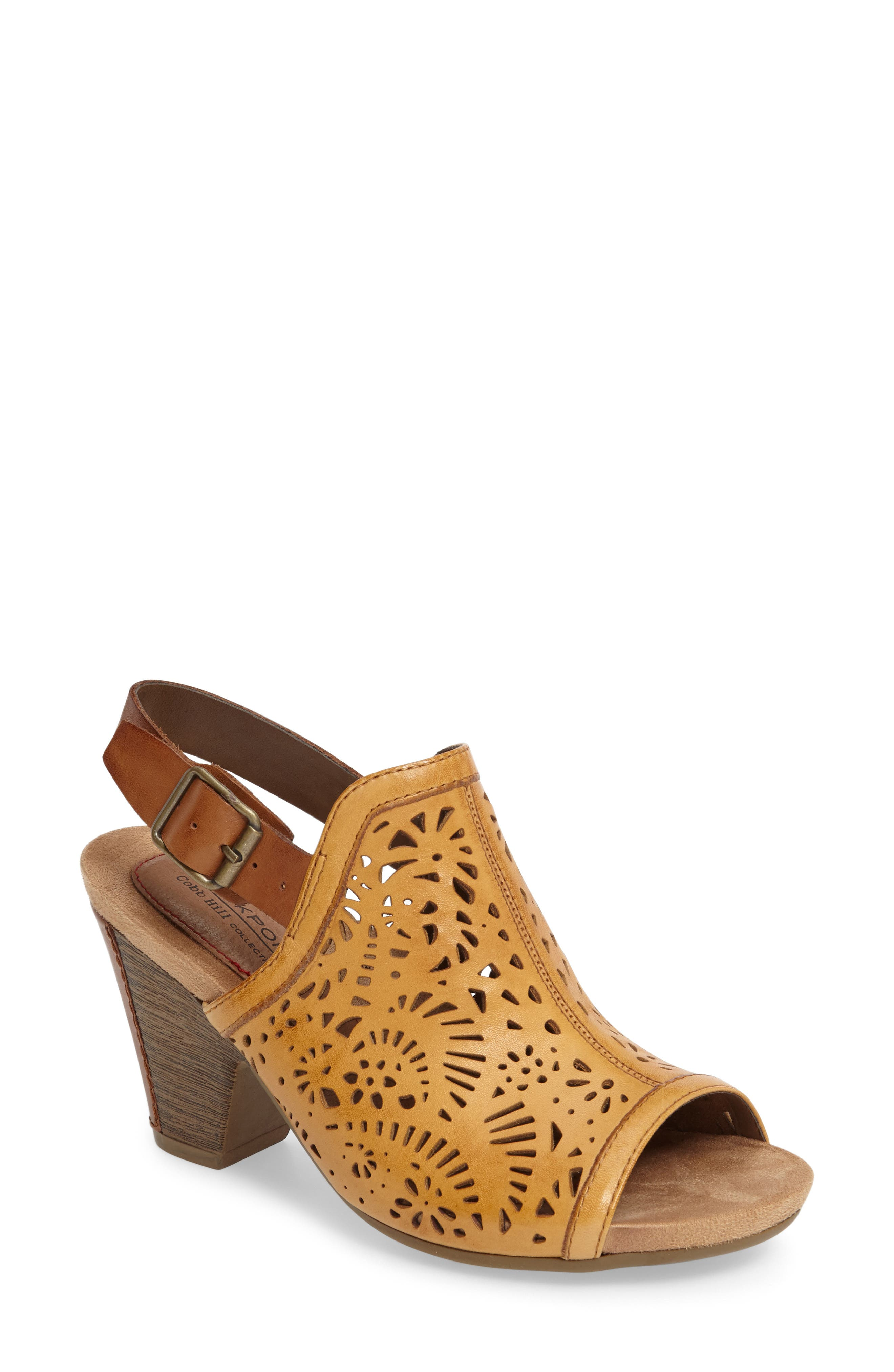 Rockport Cobb Hill Tropez Block Heel Sandal (Women)