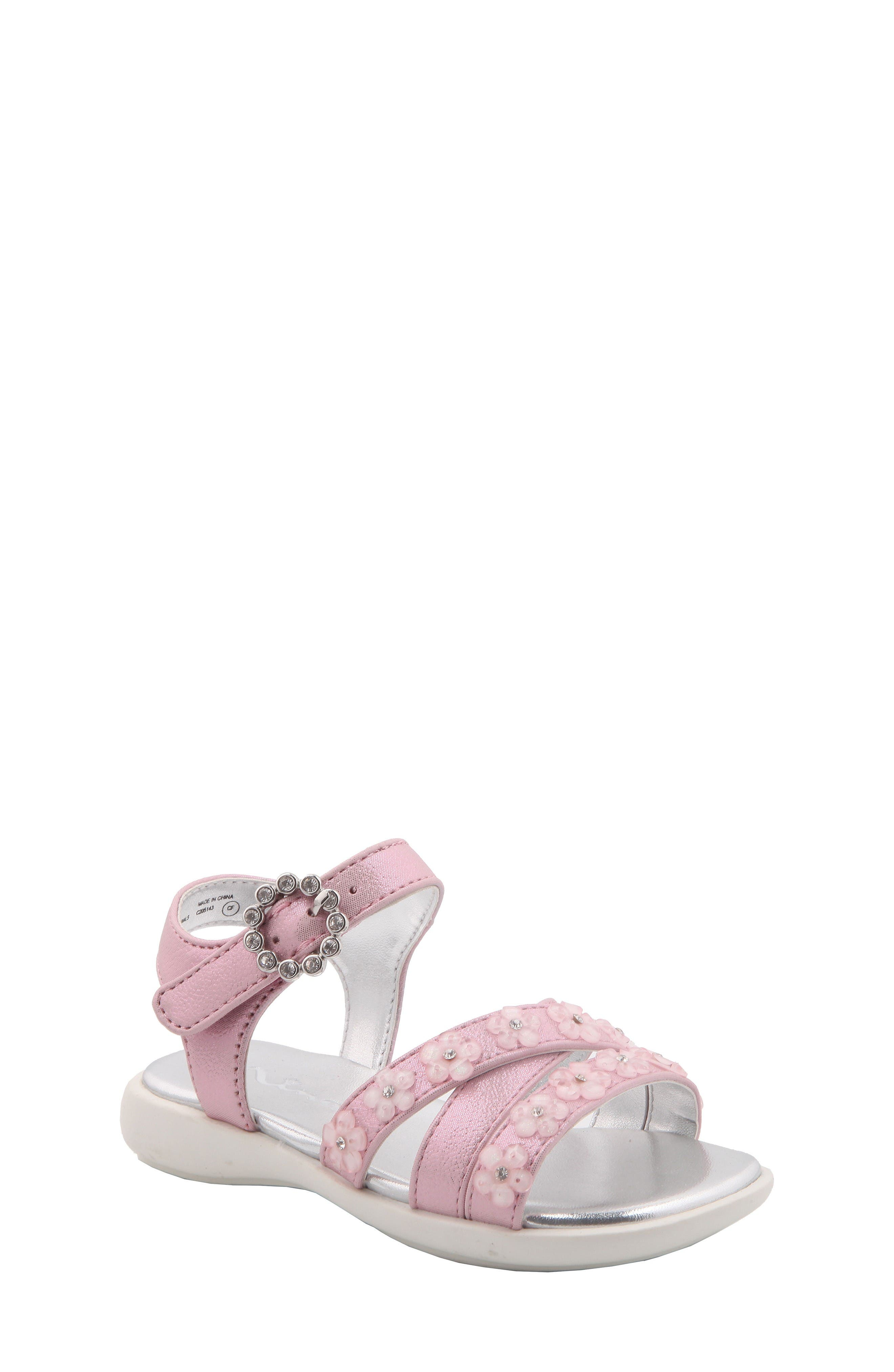Nina Delfina Flower Sandal (Walker & Toddler)