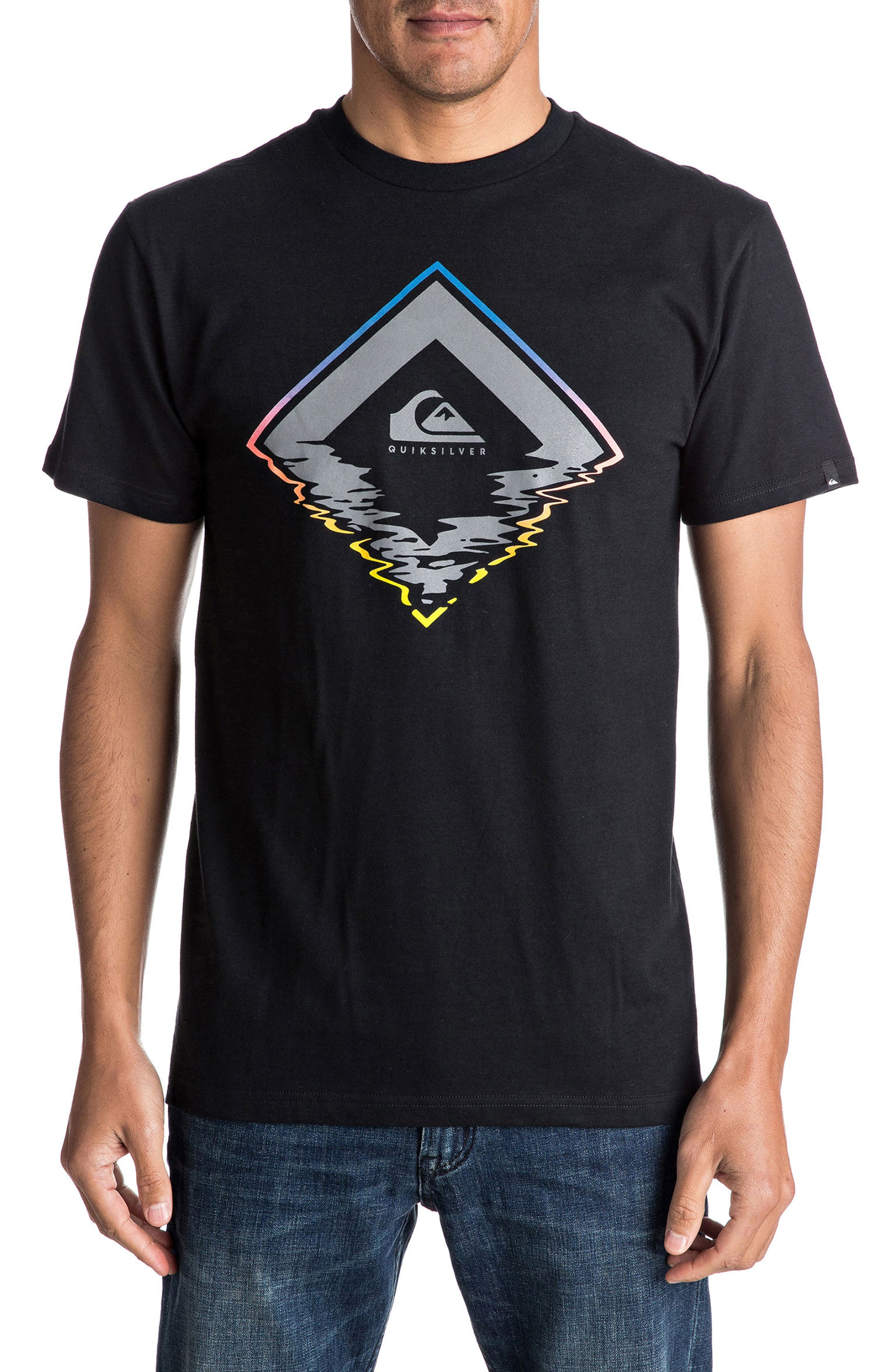 Quiksilver Glitchy Graphic T-Shirt