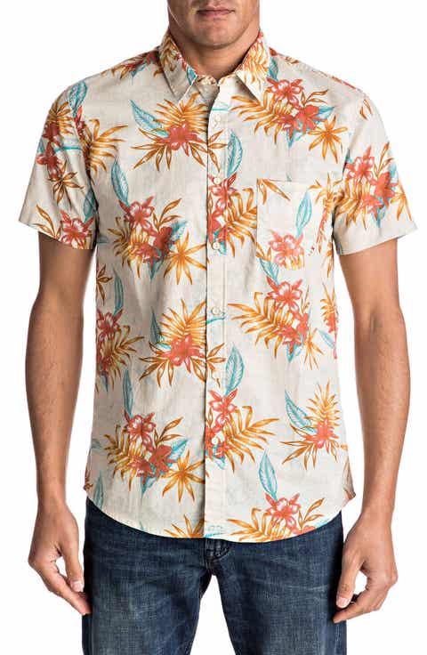 Quiksilver Shark Fin Print Shirt