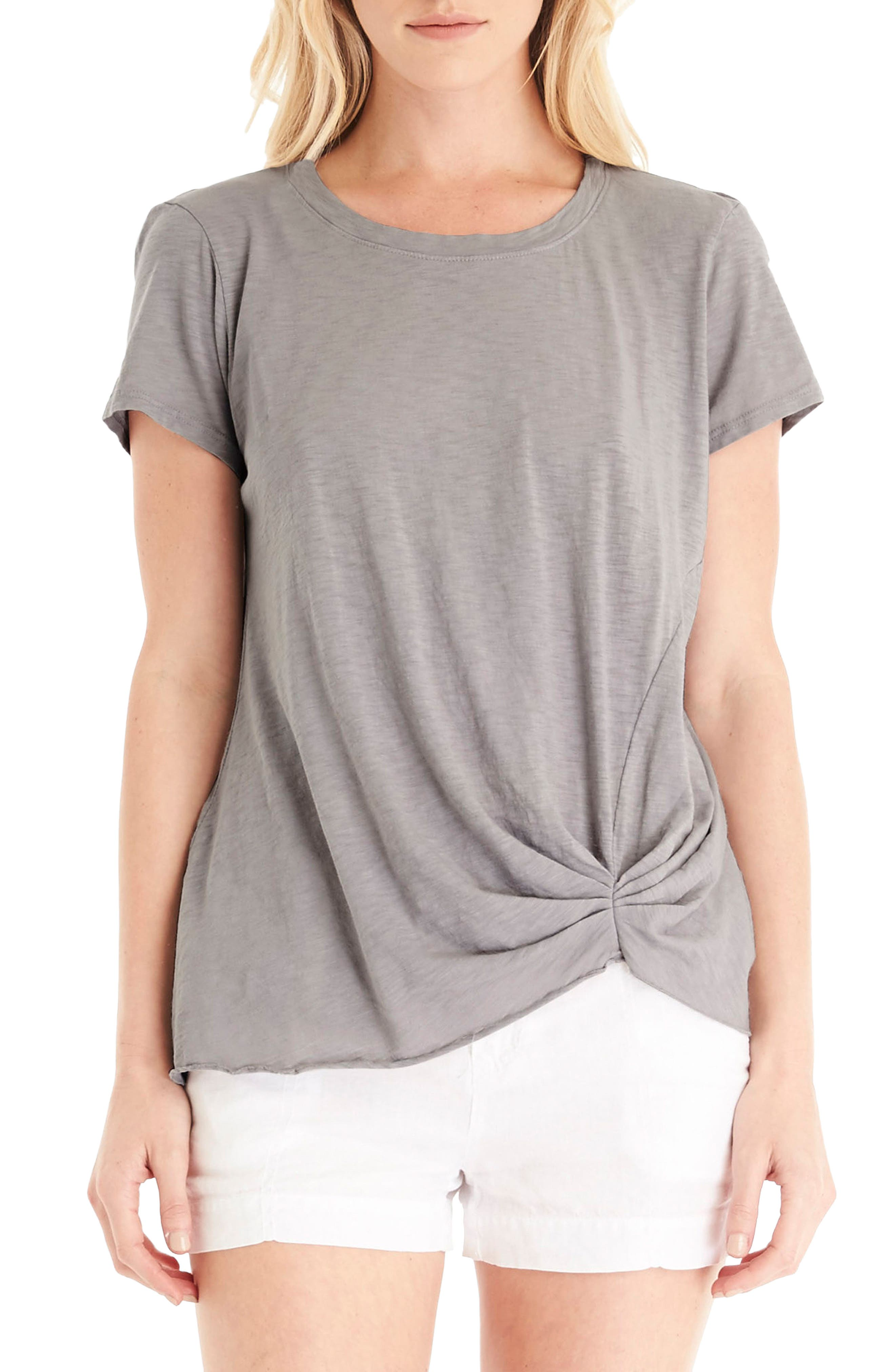 MICHAEL STARS Pleat Front Crewneck Tee