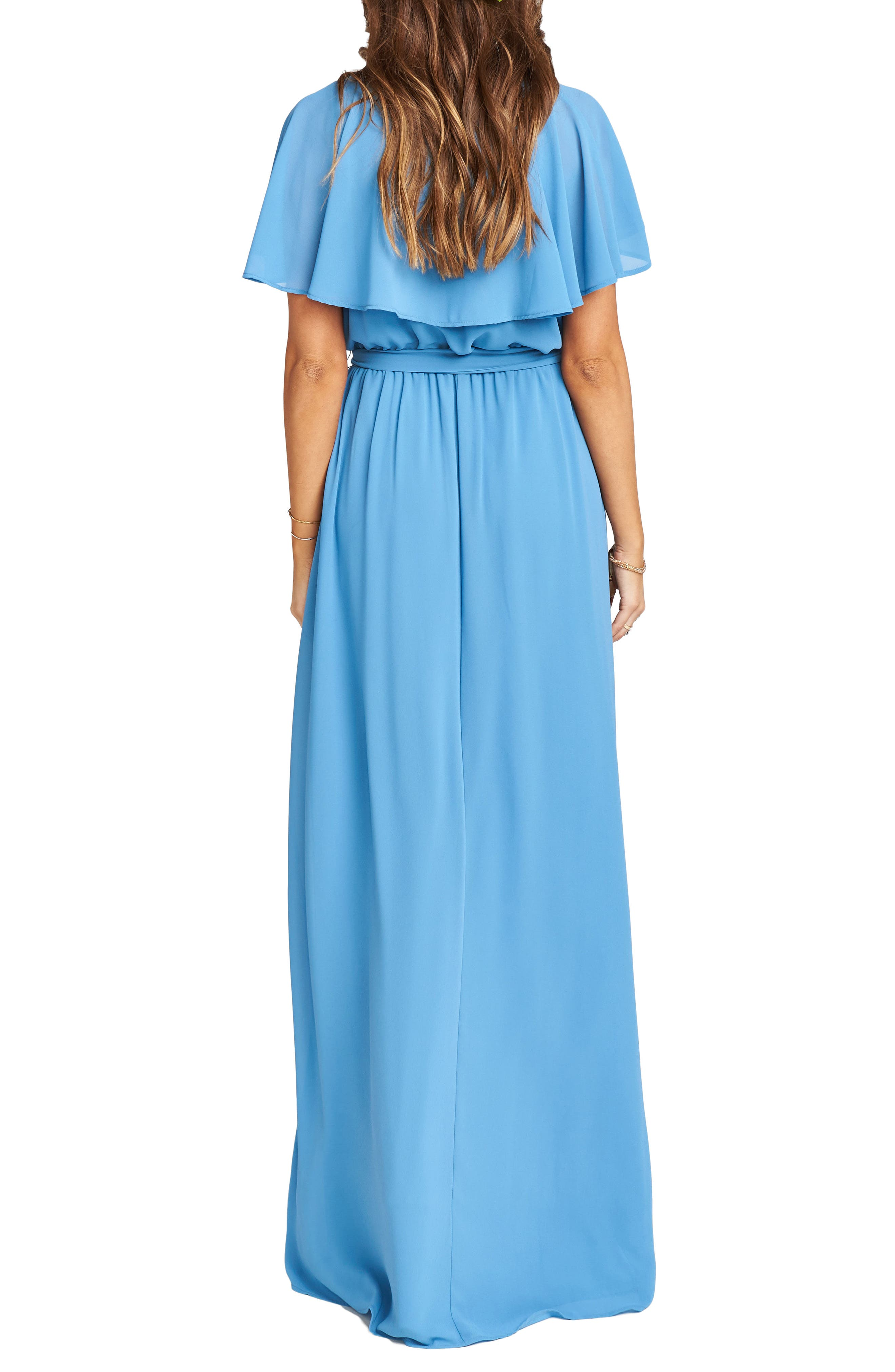 Alternate Image 3  - Show Me Your Mumu Audrey Ruffle Wrap Front Gown
