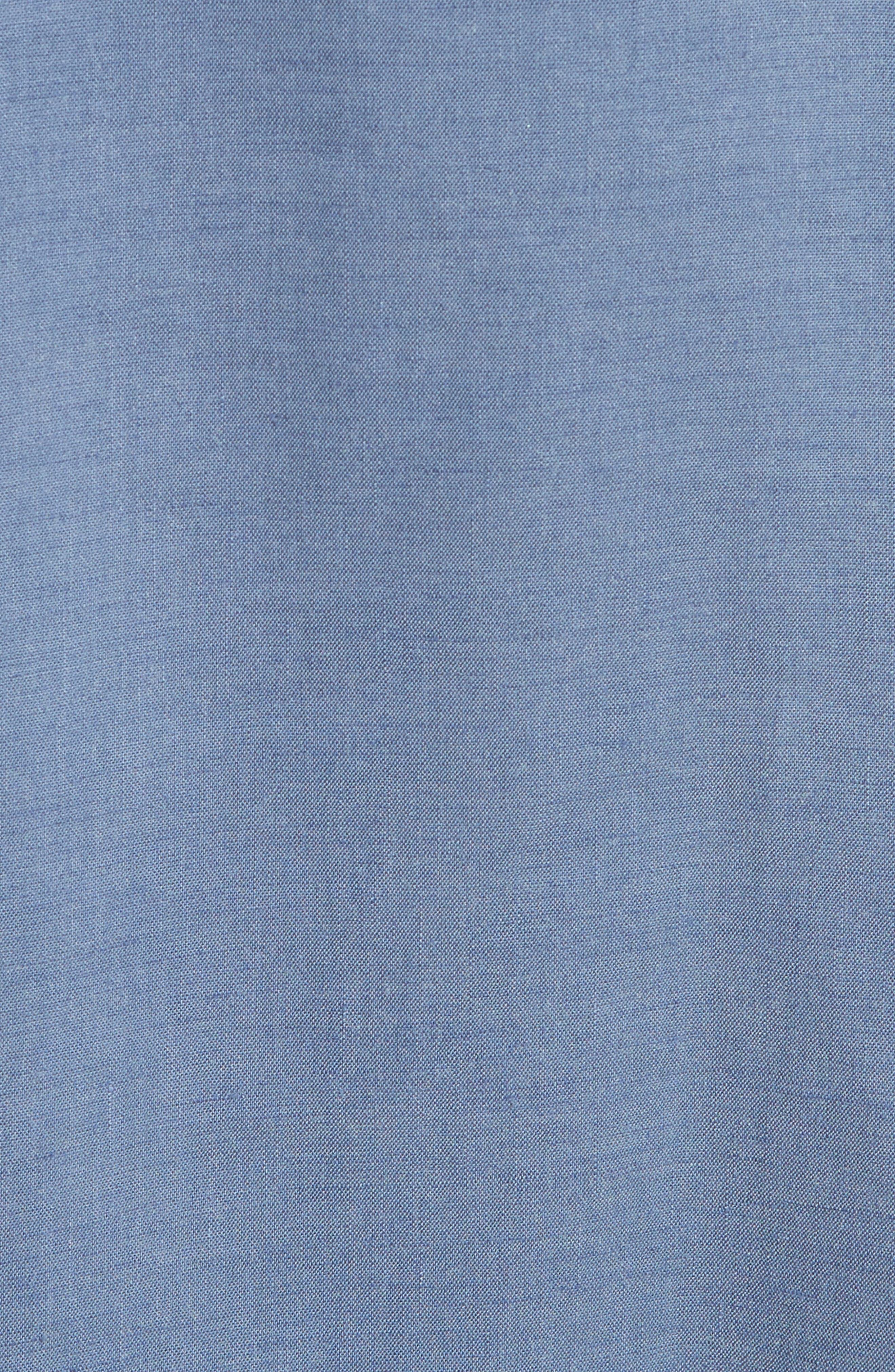 Alternate Image 5  - Theory Kayleigh Crunch Wash Chambray Midi Dress