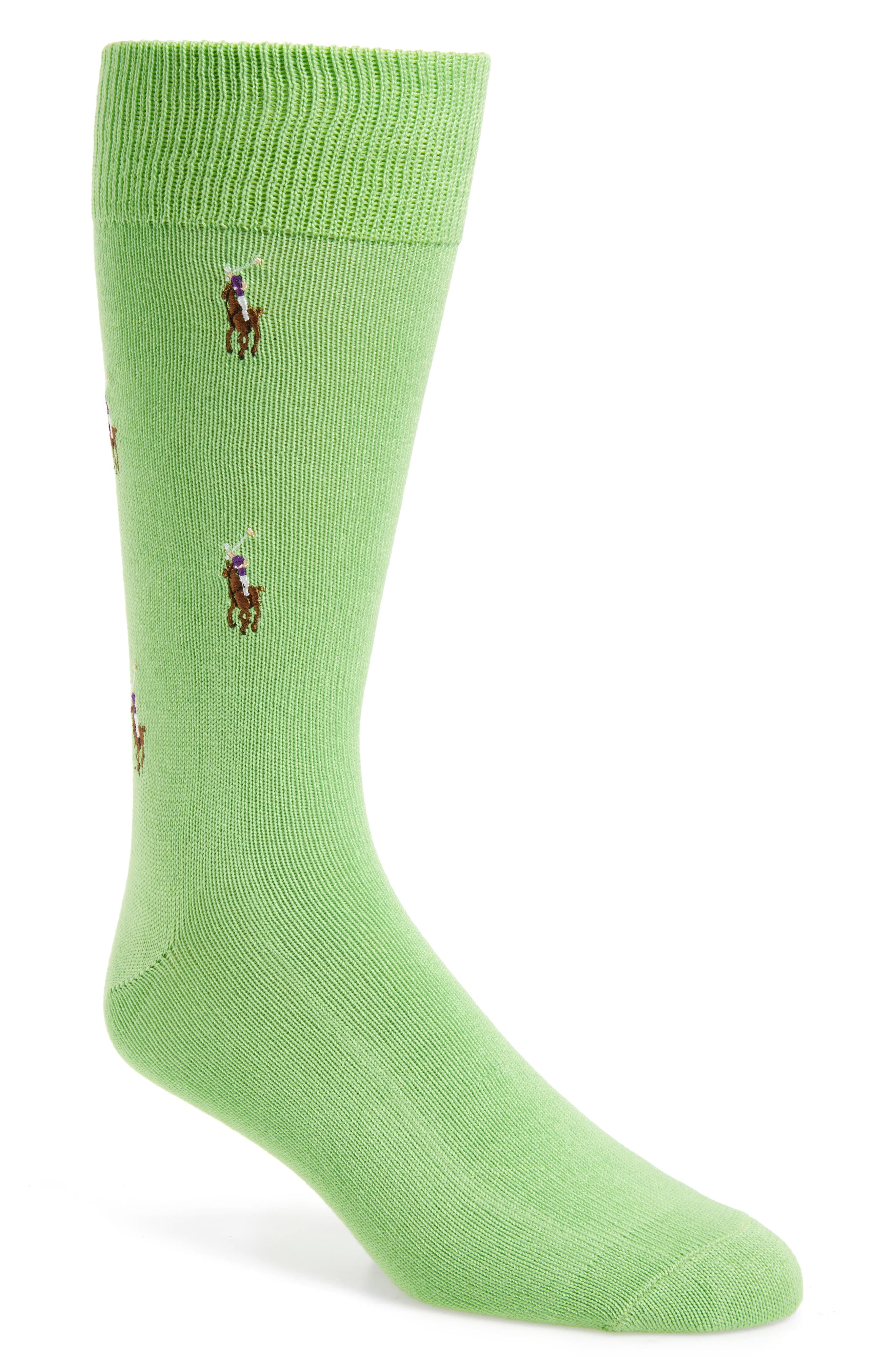 Alternate Image 1 Selected - Polo Ralph Lauren Logo Socks
