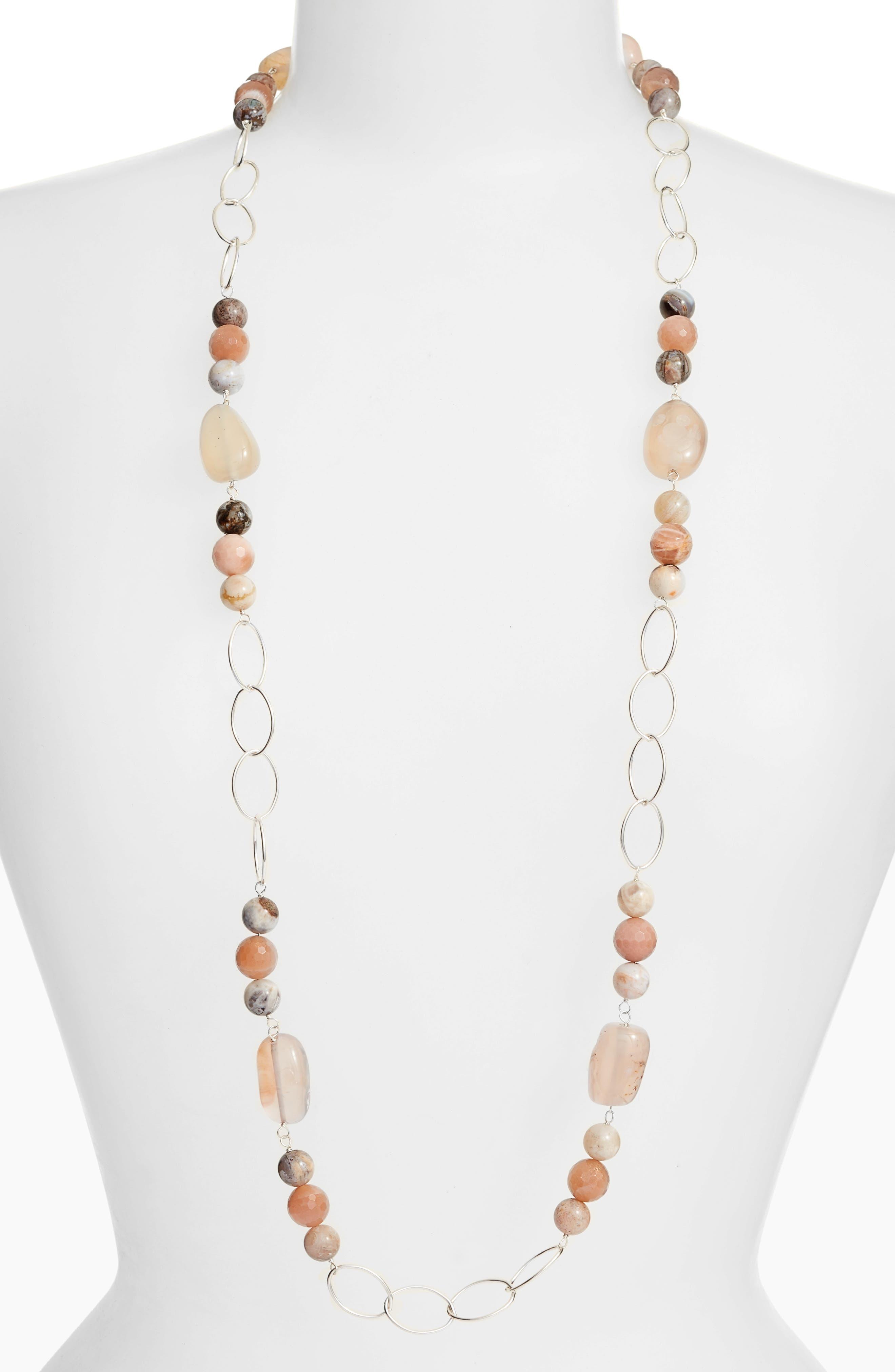 Simon Sebbag Long Stone Link Necklace