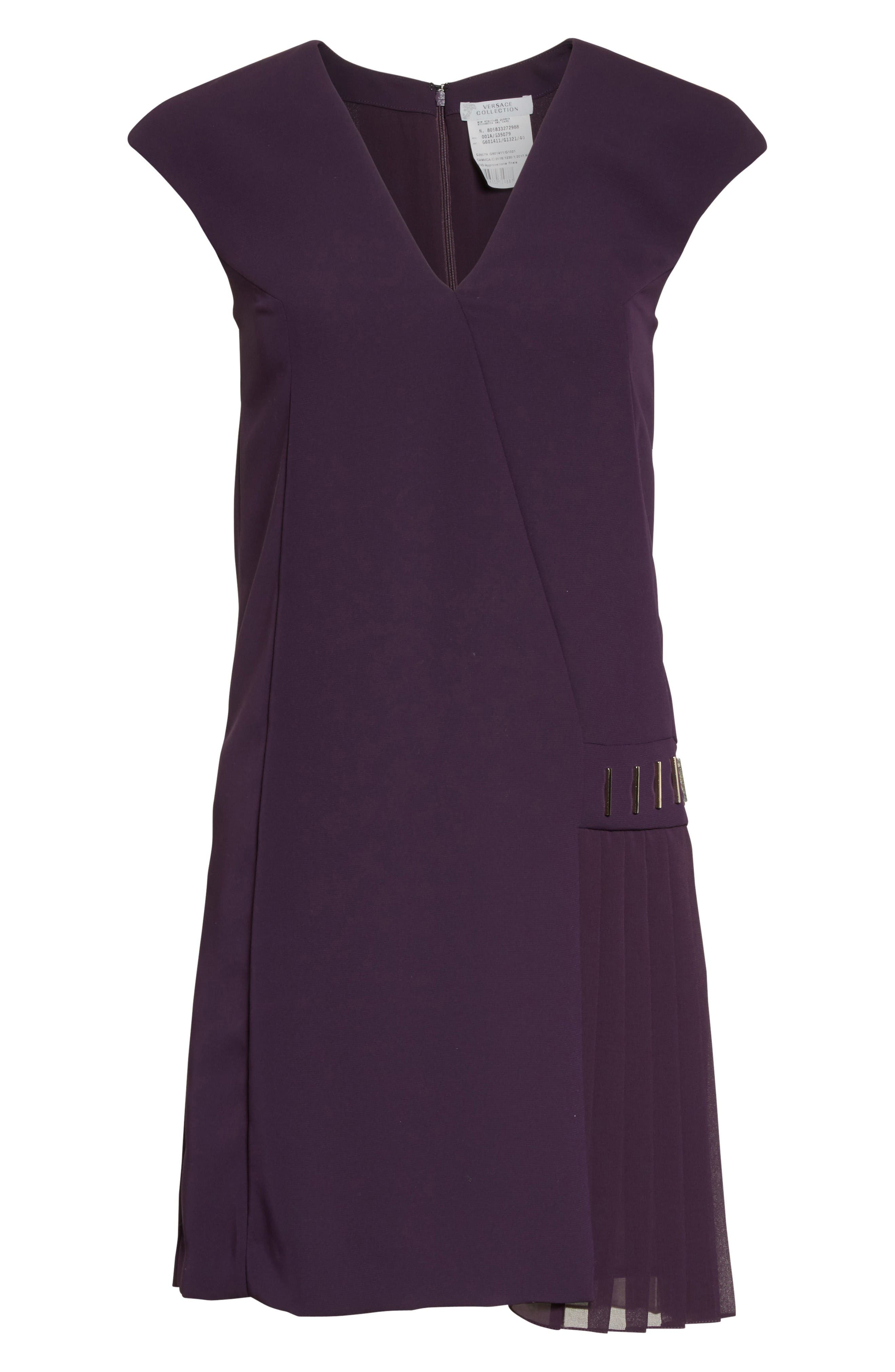 Alternate Image 4  - Versace Collection Side Pleat Dress