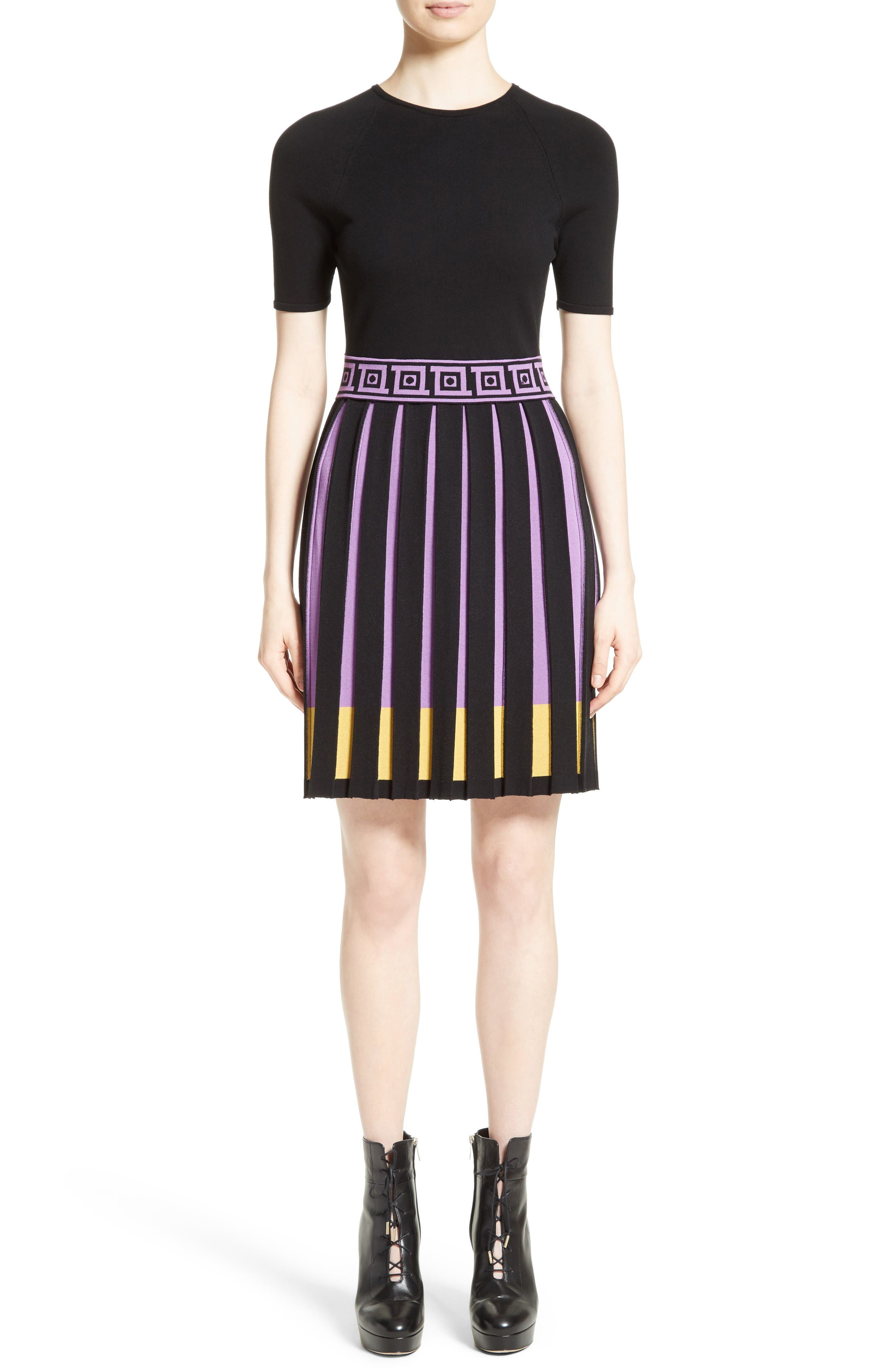 Versace Collection Knit Fit & Flare Dress