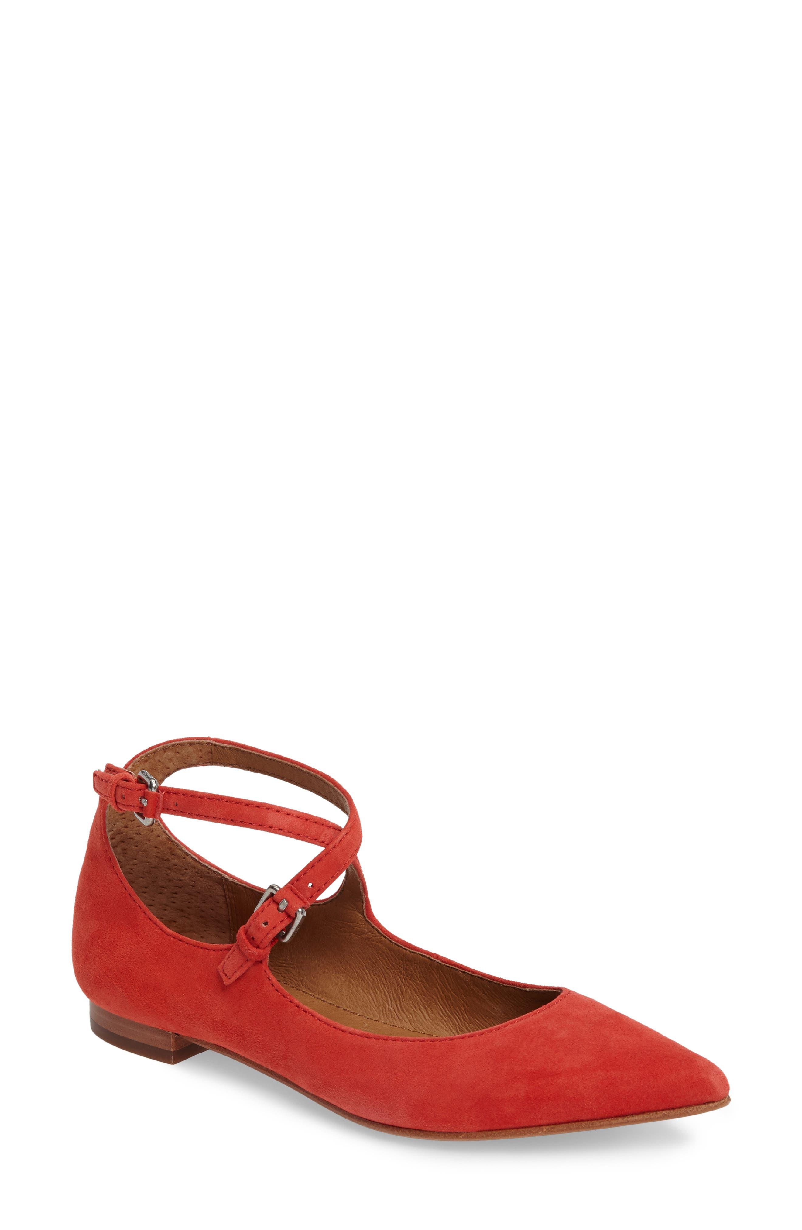 Frye Sienna Cross Ballet Flat (Women)