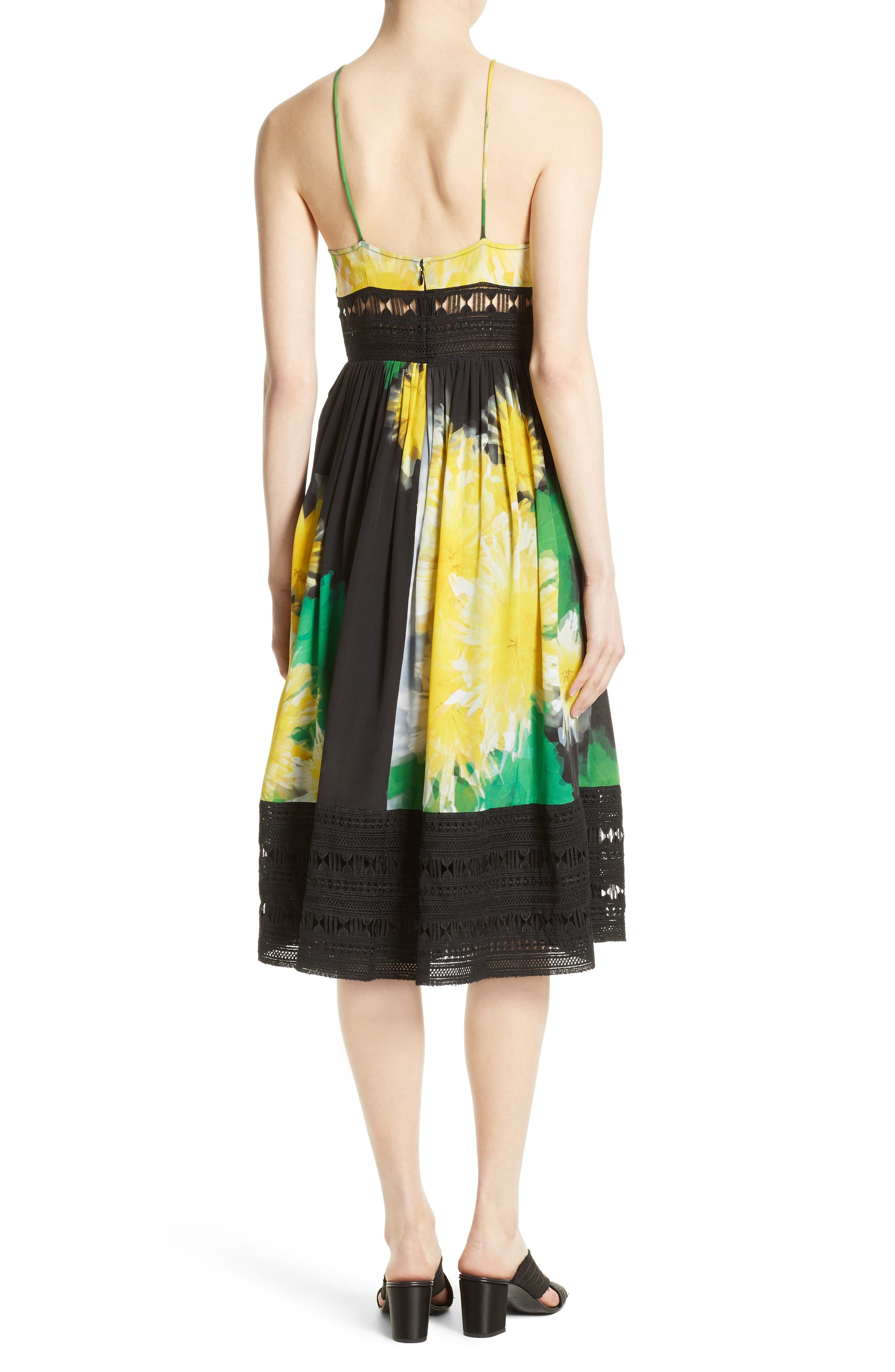 Alternate Image 2  - Tracy Reese Lace Inset Halter Dress
