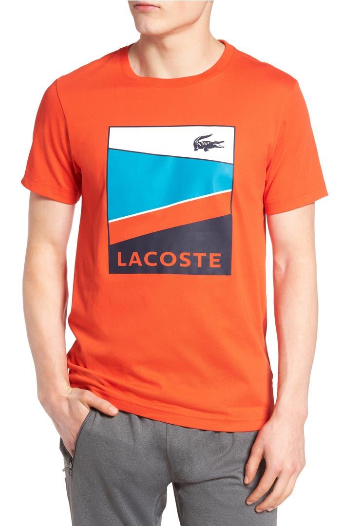 lacoste sport geometric t shirt nordstrom. Black Bedroom Furniture Sets. Home Design Ideas
