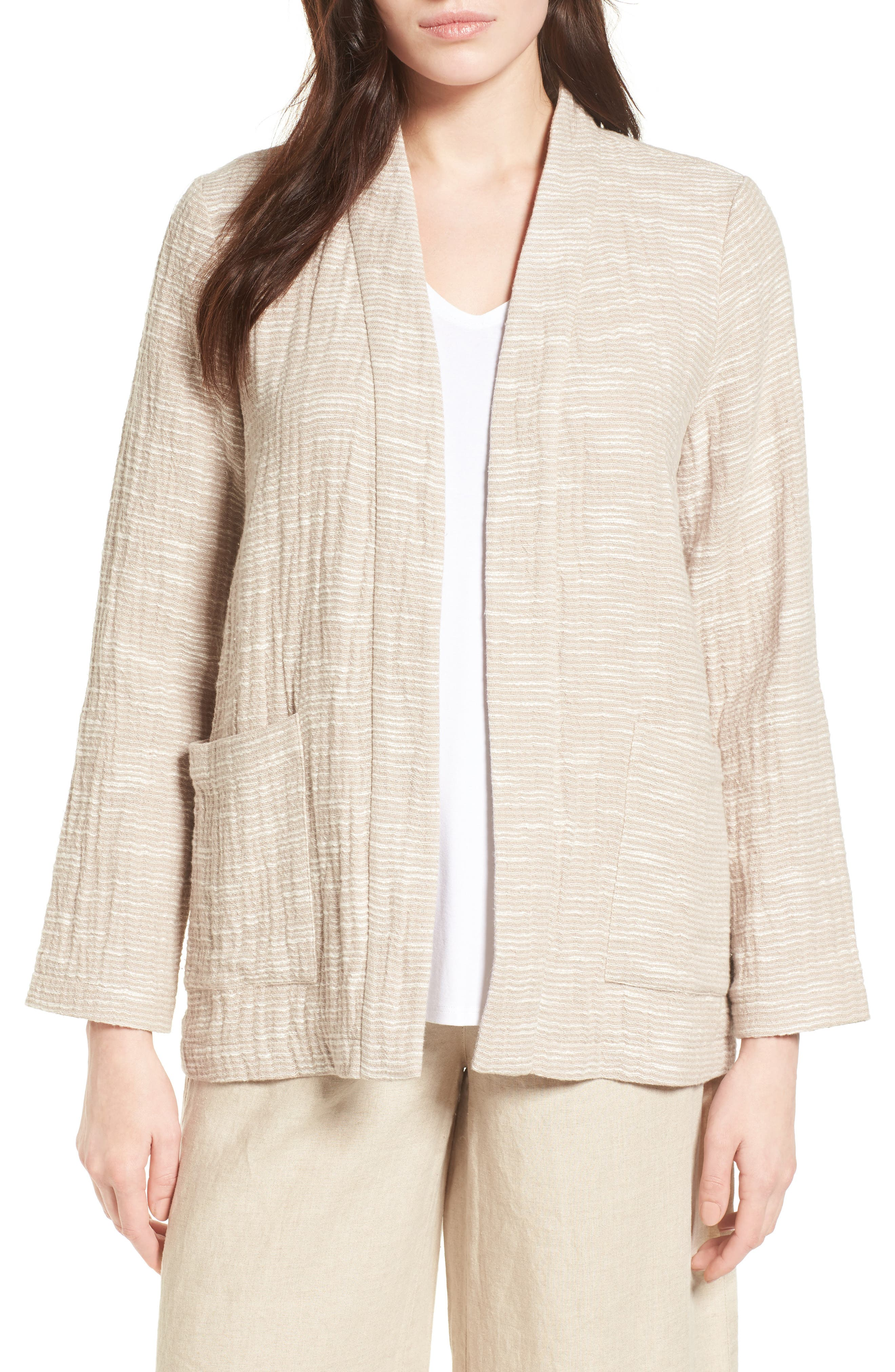 Eileen Fisher Cotton Jacket (Regular & Petite) (Nordstrom Exclusive)