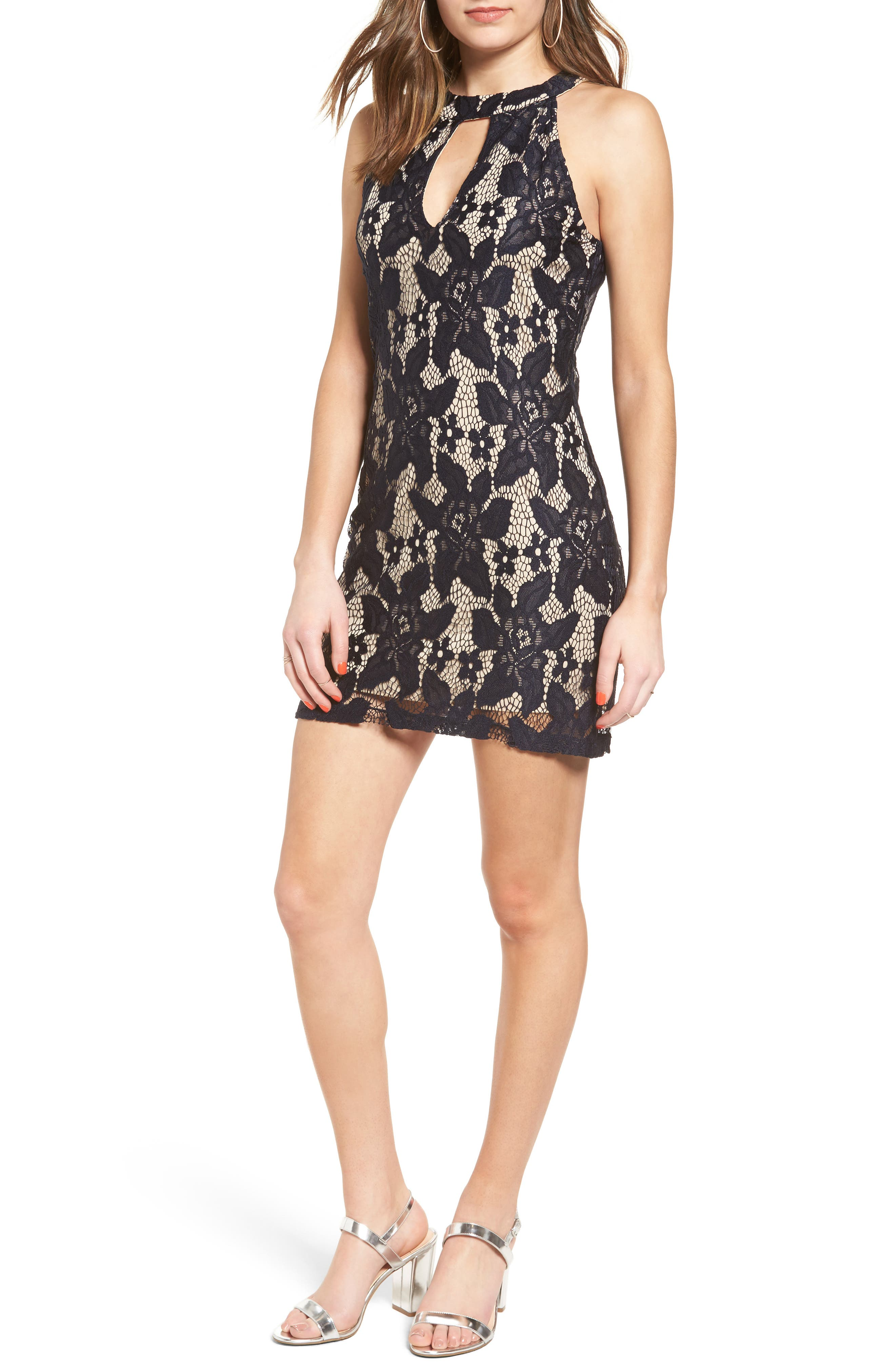 Alternate Image 1 Selected - Speechless Lace Body-Con Dress