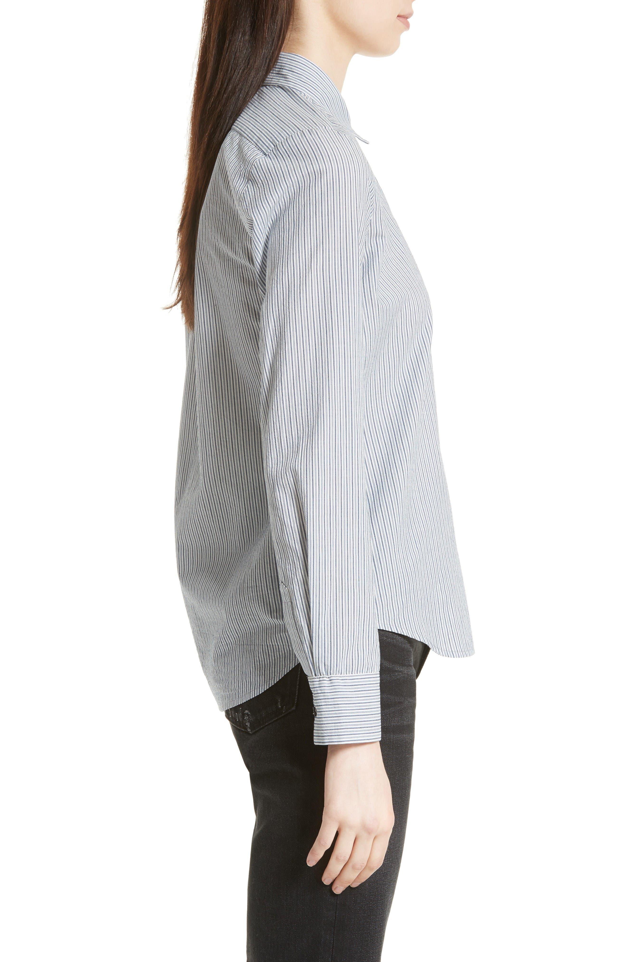 Alternate Image 4  - Vince Mix Stripe Silk Shirt