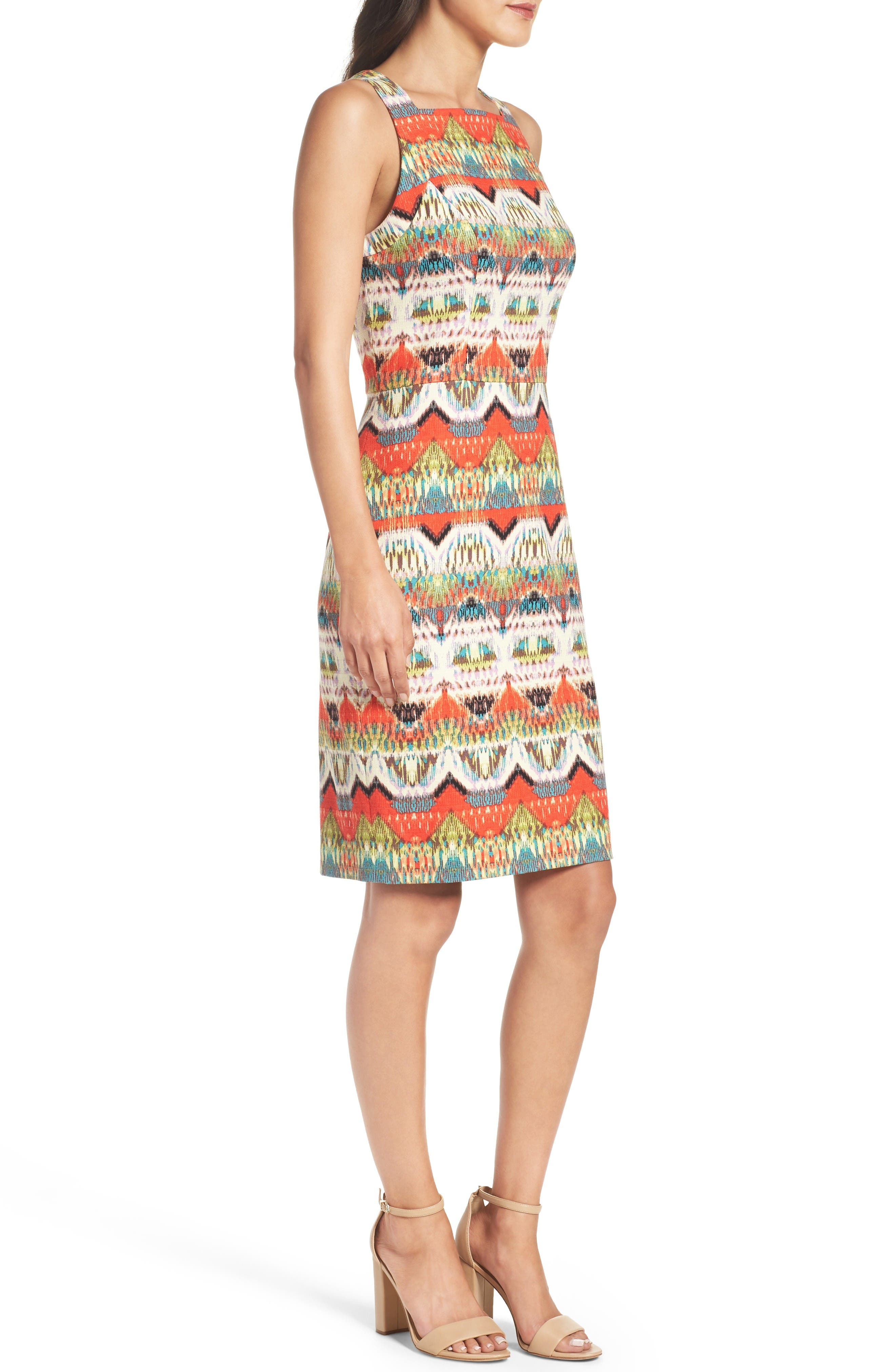 Alternate Image 3  - Maggy London Print Sheath Dress (Regular & Petite)