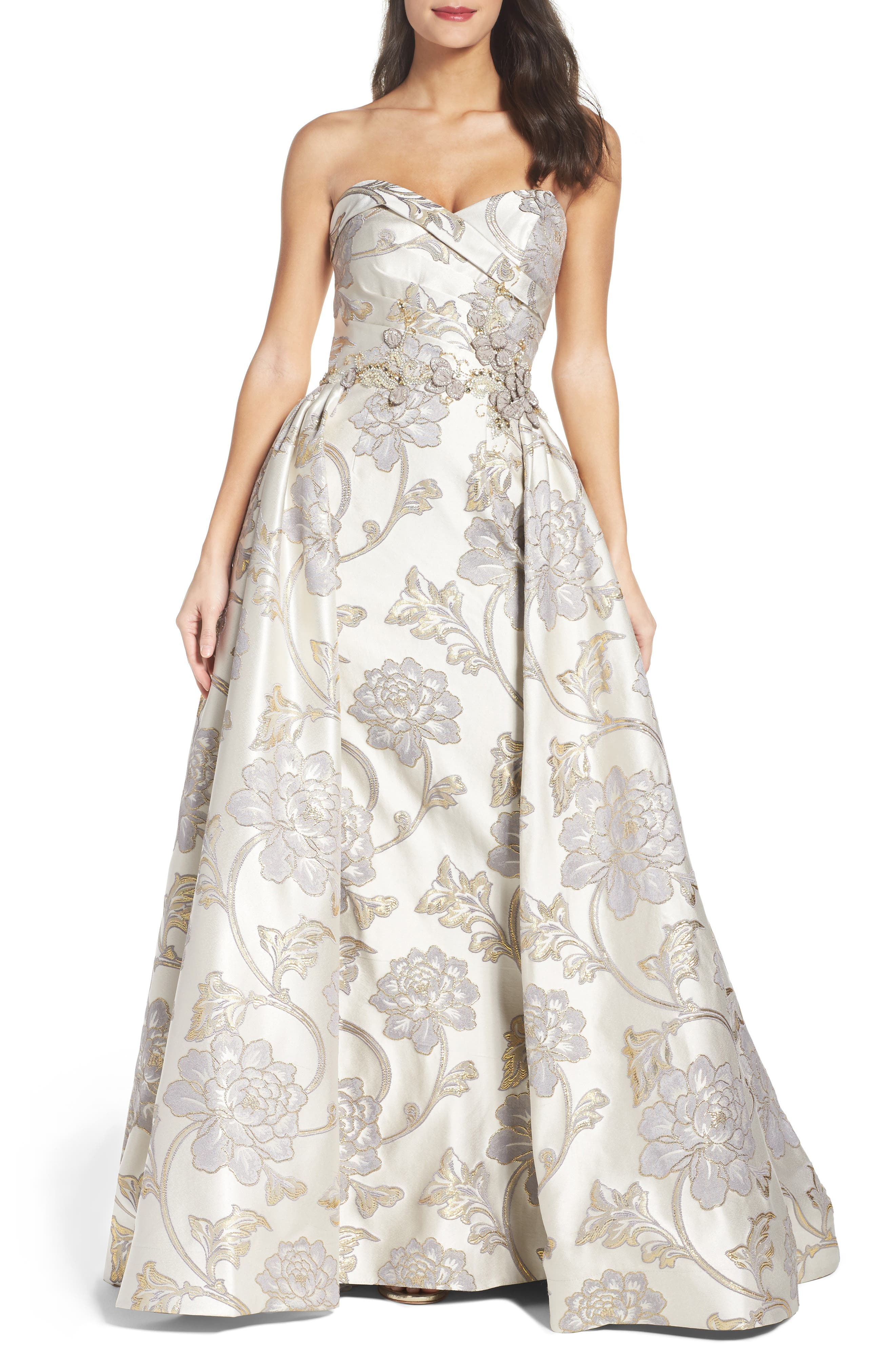 Main Image - Mac Duggal Metallic Brocade Gown