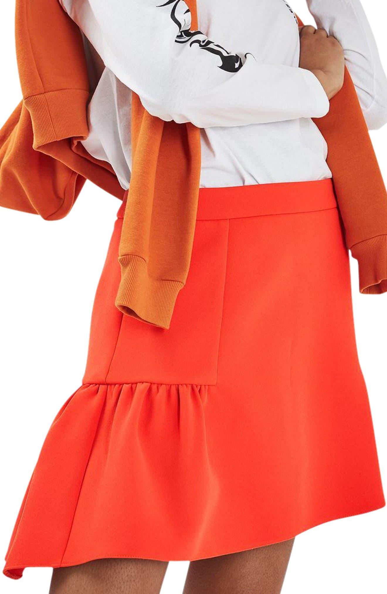 Alternate Image 1 Selected - Topshop Peplum Skirt